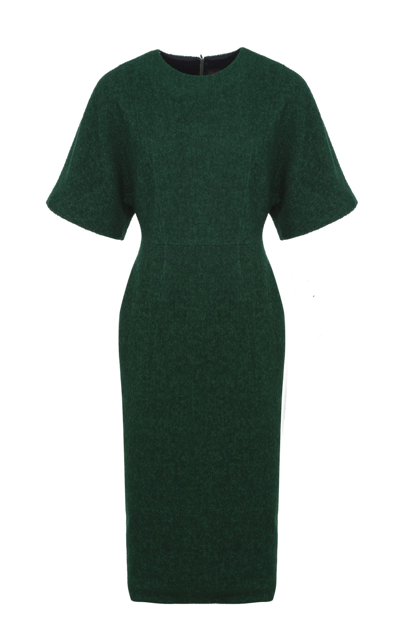 Martin Grant Women's Batwing Cotton-blend Midi Dress In Green