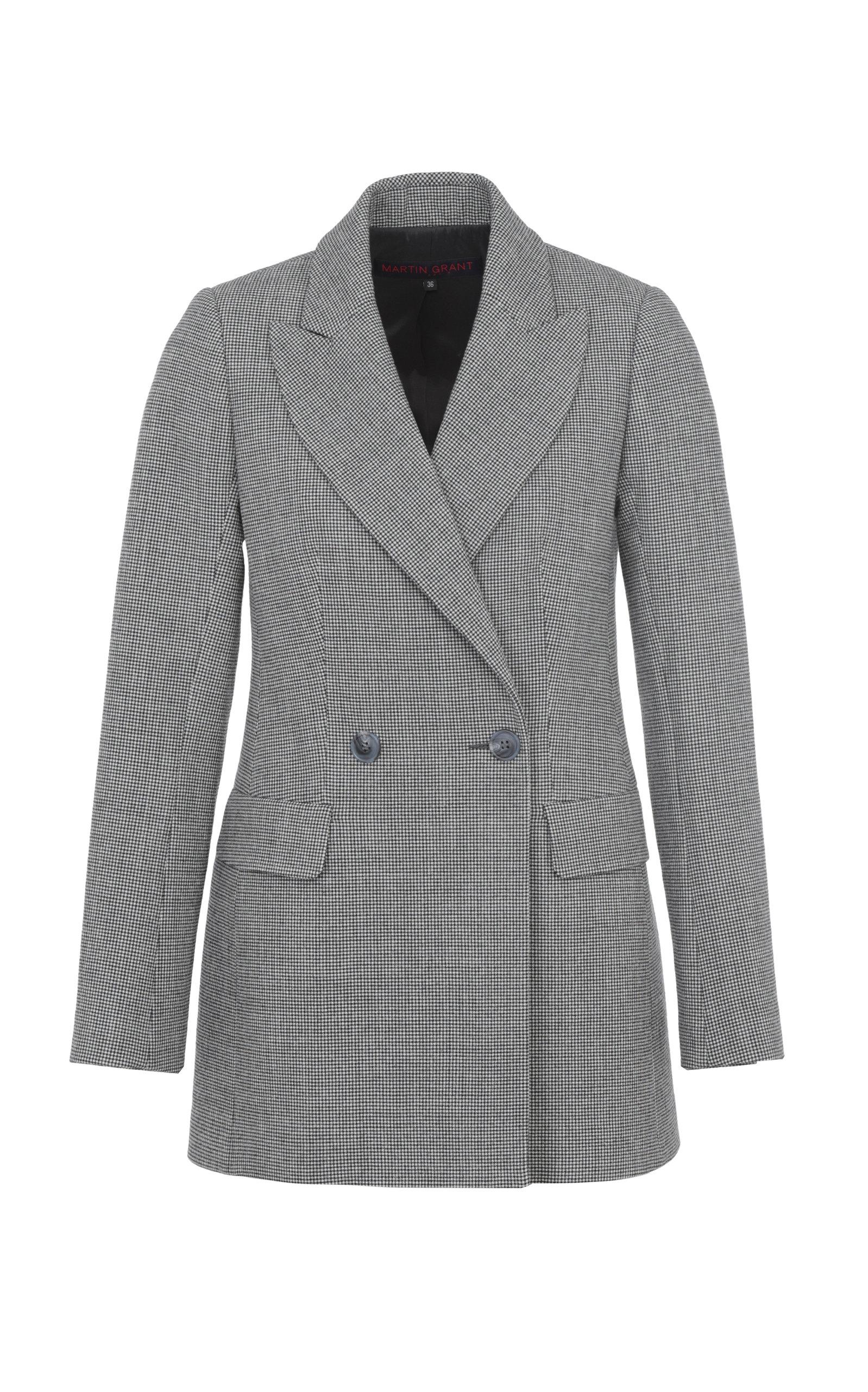 Women's Tailored Double-Breasted Virgin Wool-Blend Jacket