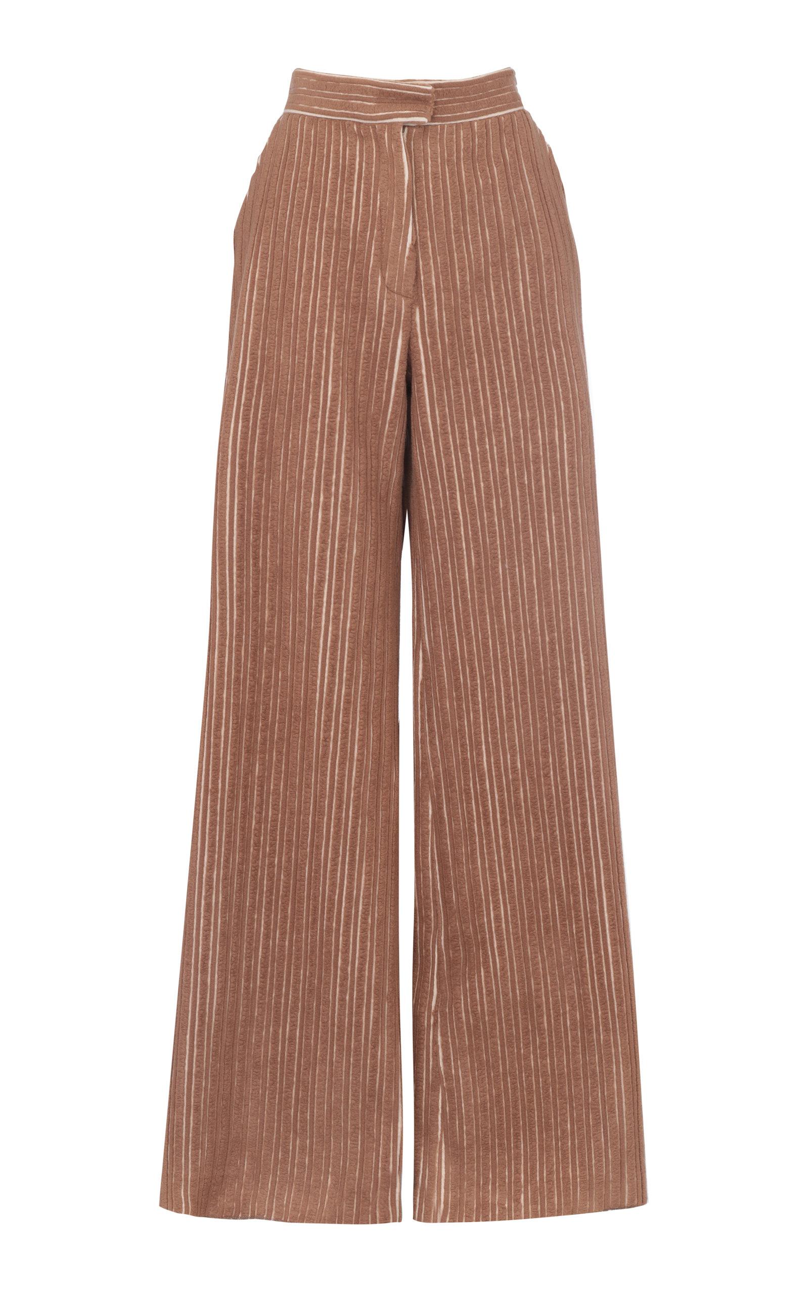Women's High-Waist Wide-Leg Virgin Wool-Blend Pants