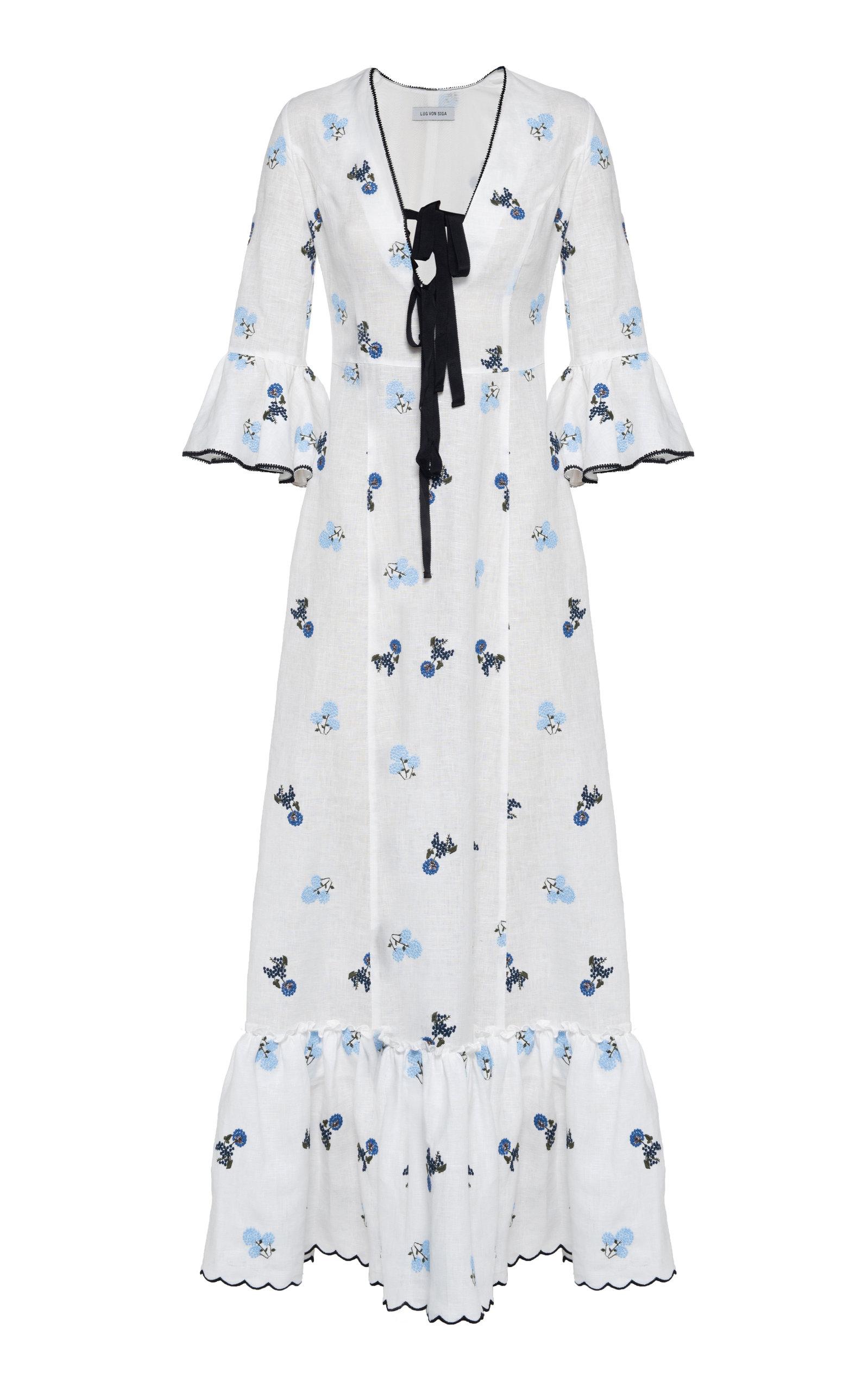 Women's Diana Floral Linen Dress