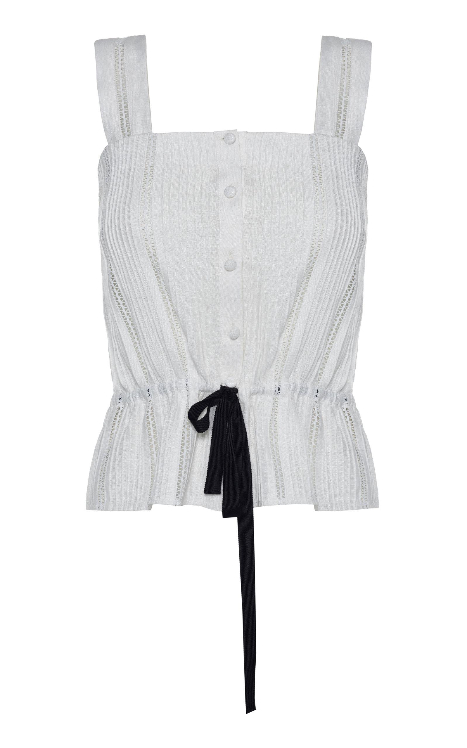 Women's Harper Button-Detailed Linen Top