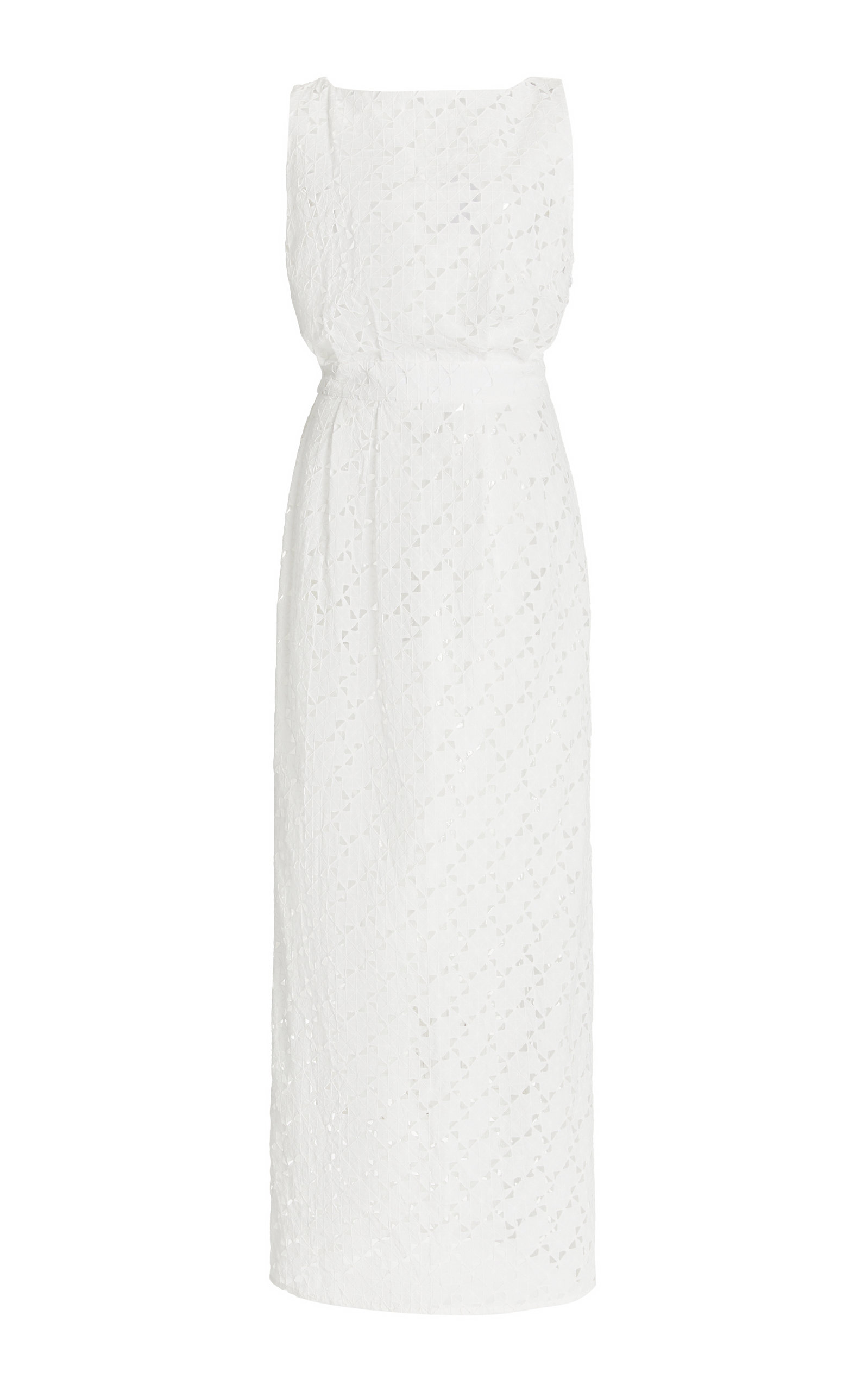 Women's Eyelet Cotton Midi Dress