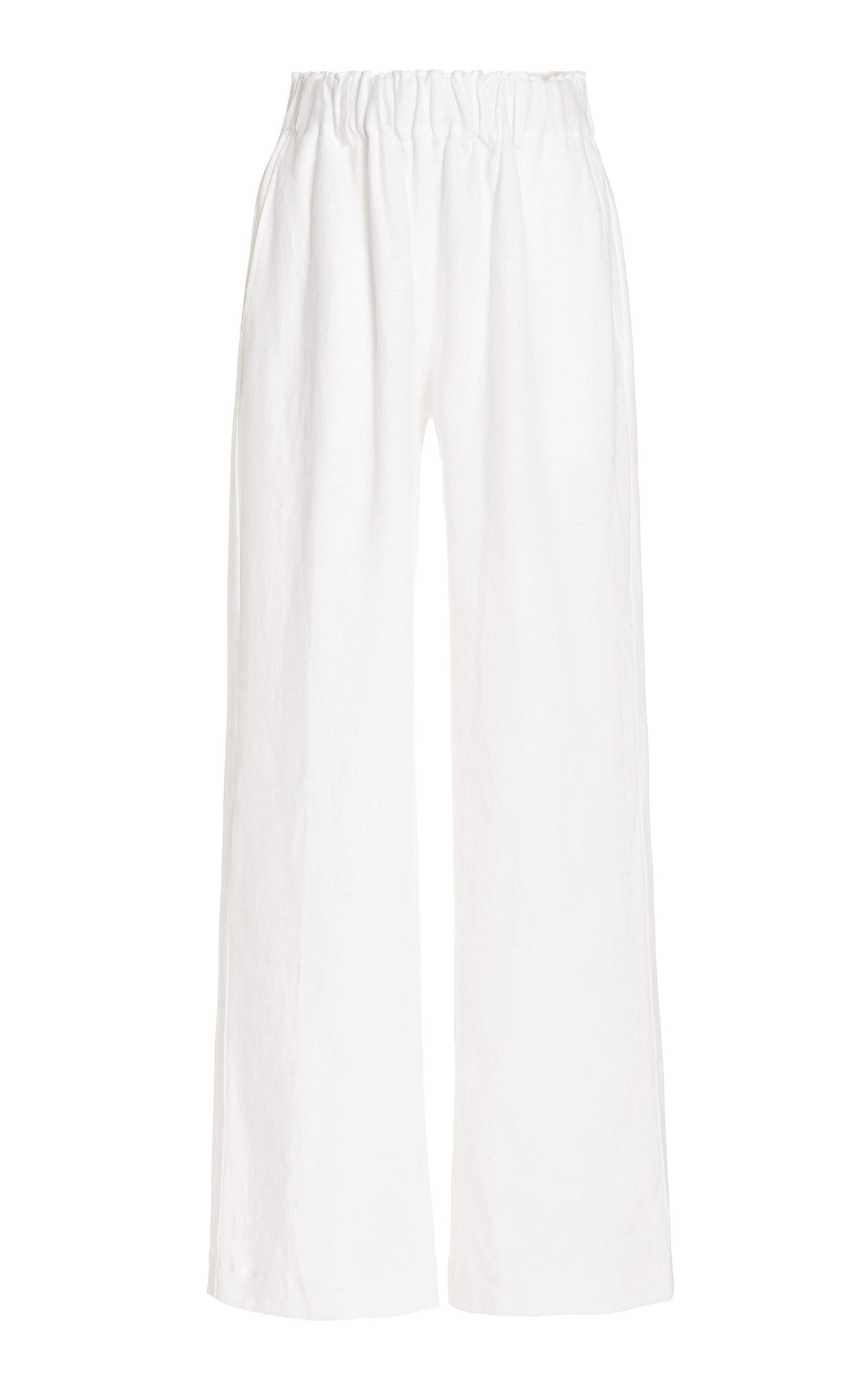 Women's Linen Wide-Leg Pants