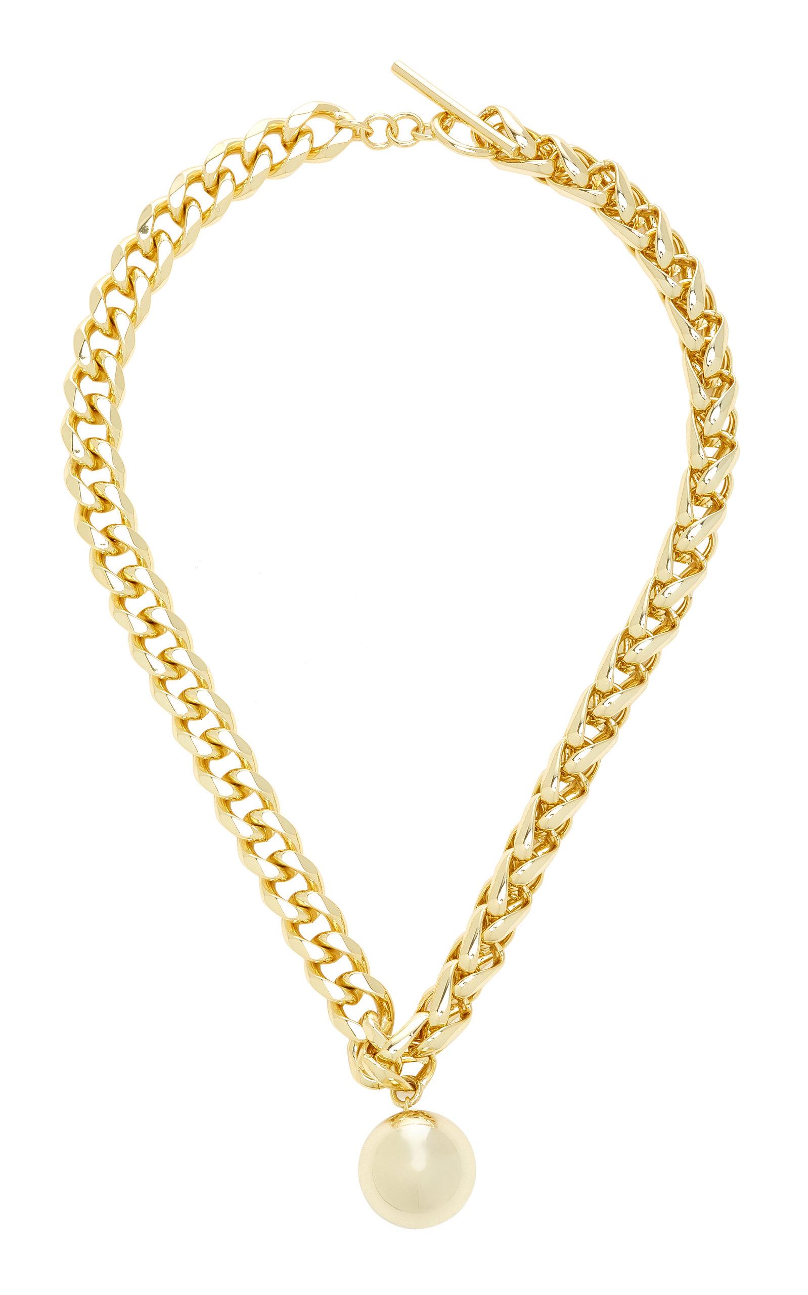 Emili - Women's Daphoni 18K Gold-Plated Necklace - Gold - Moda Operandi