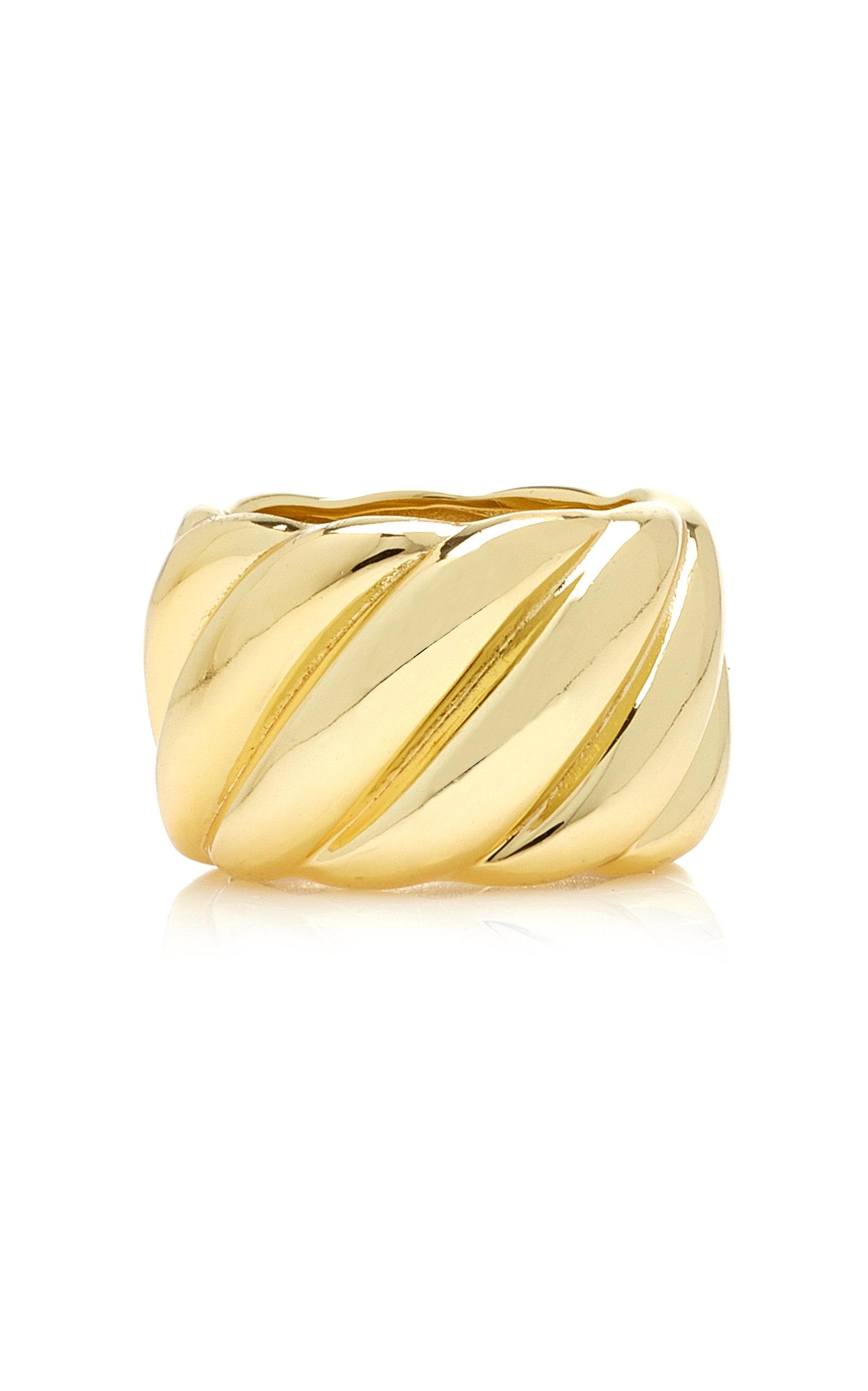 Emili - Women's Diane 14K Gold-Plated Ring - Gold - Moda Operandi