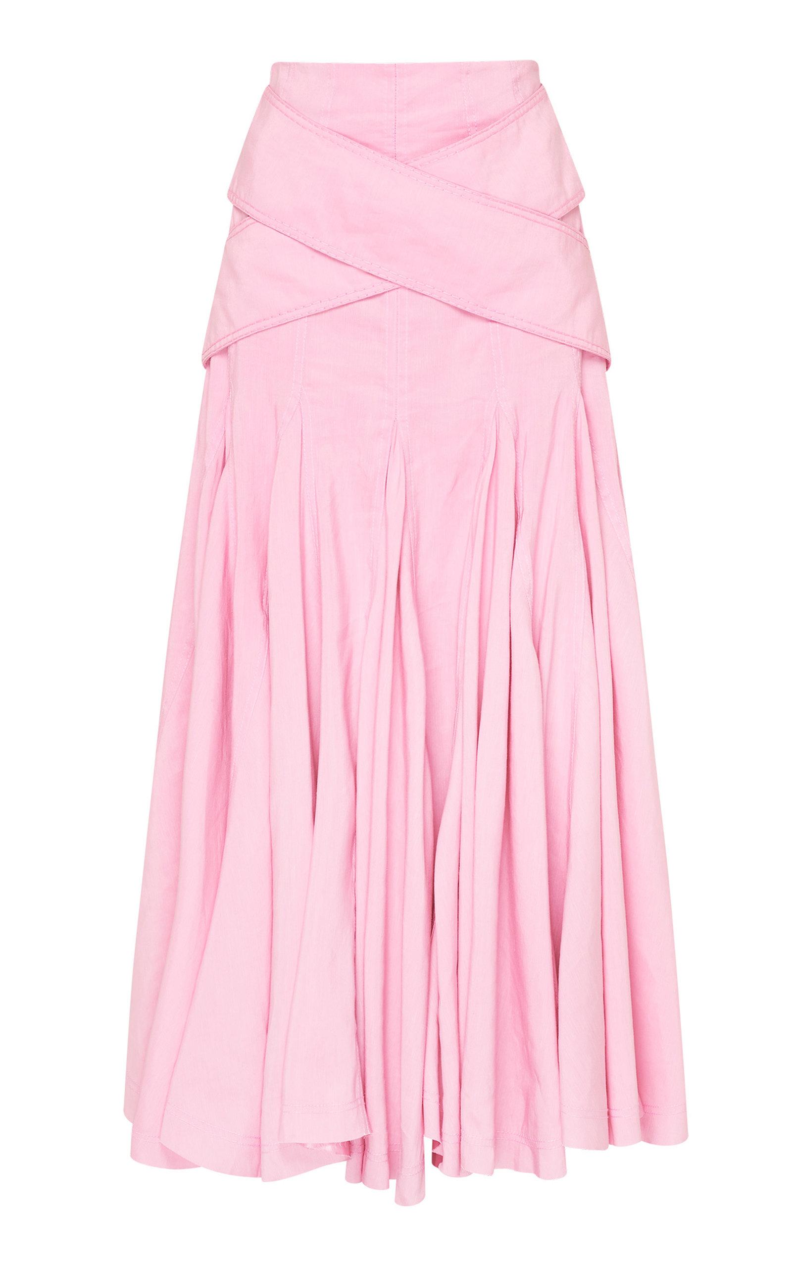 - Women's Serendipity Linen-Blend Midi Skirt