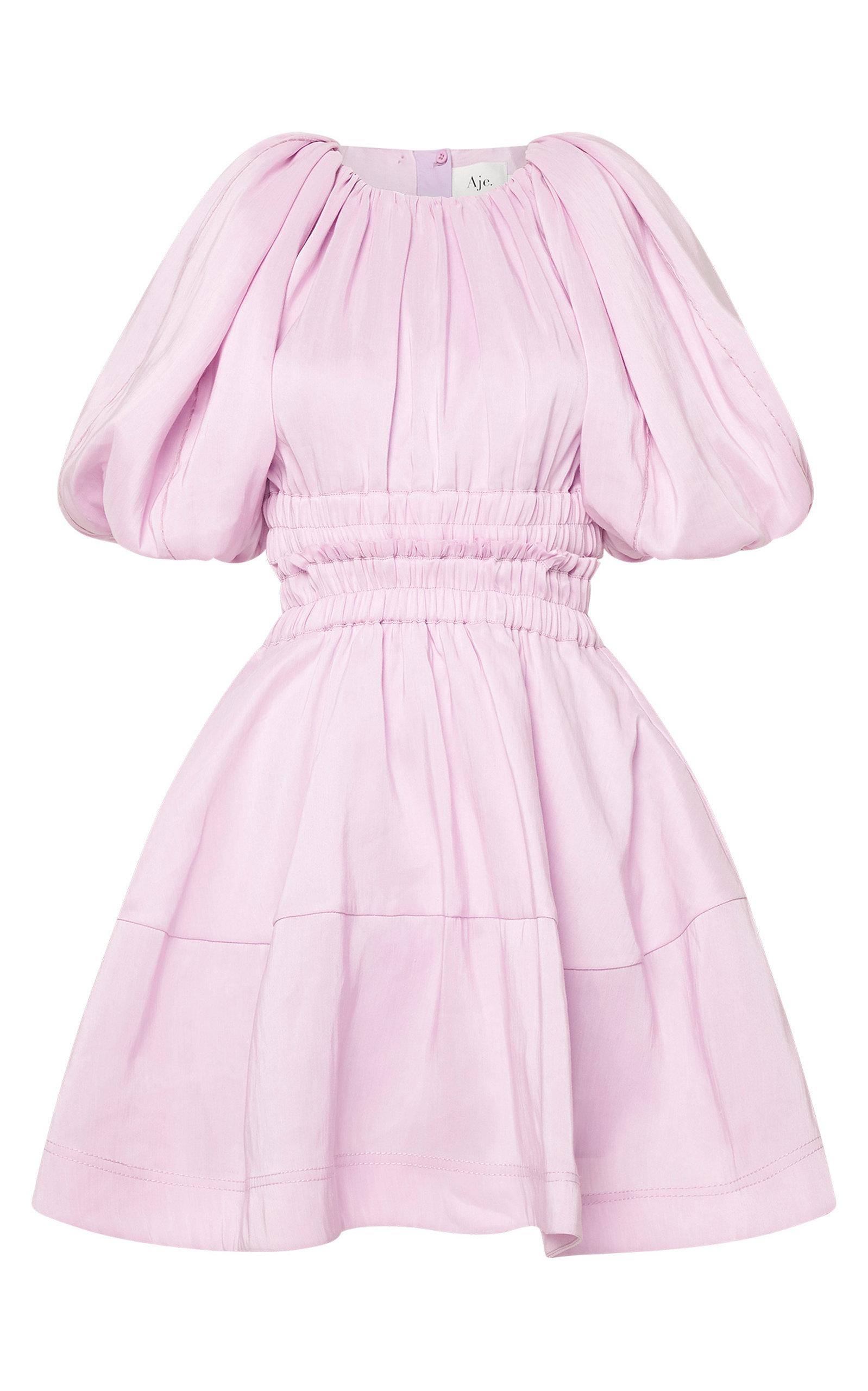 - Women's Solitude Cutout Linen-Blend Mini Dress