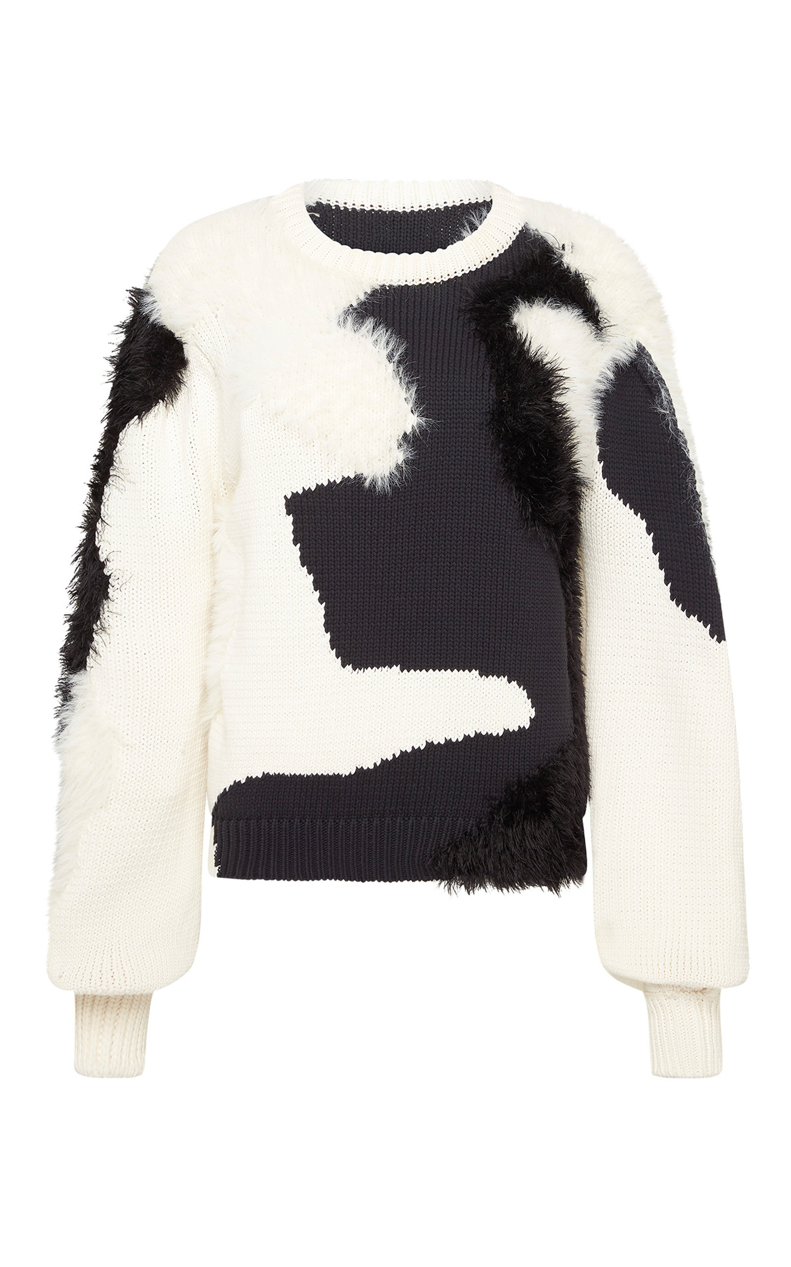 - Women's Dominique Wool-Silk Jacquard-Knit Sweater