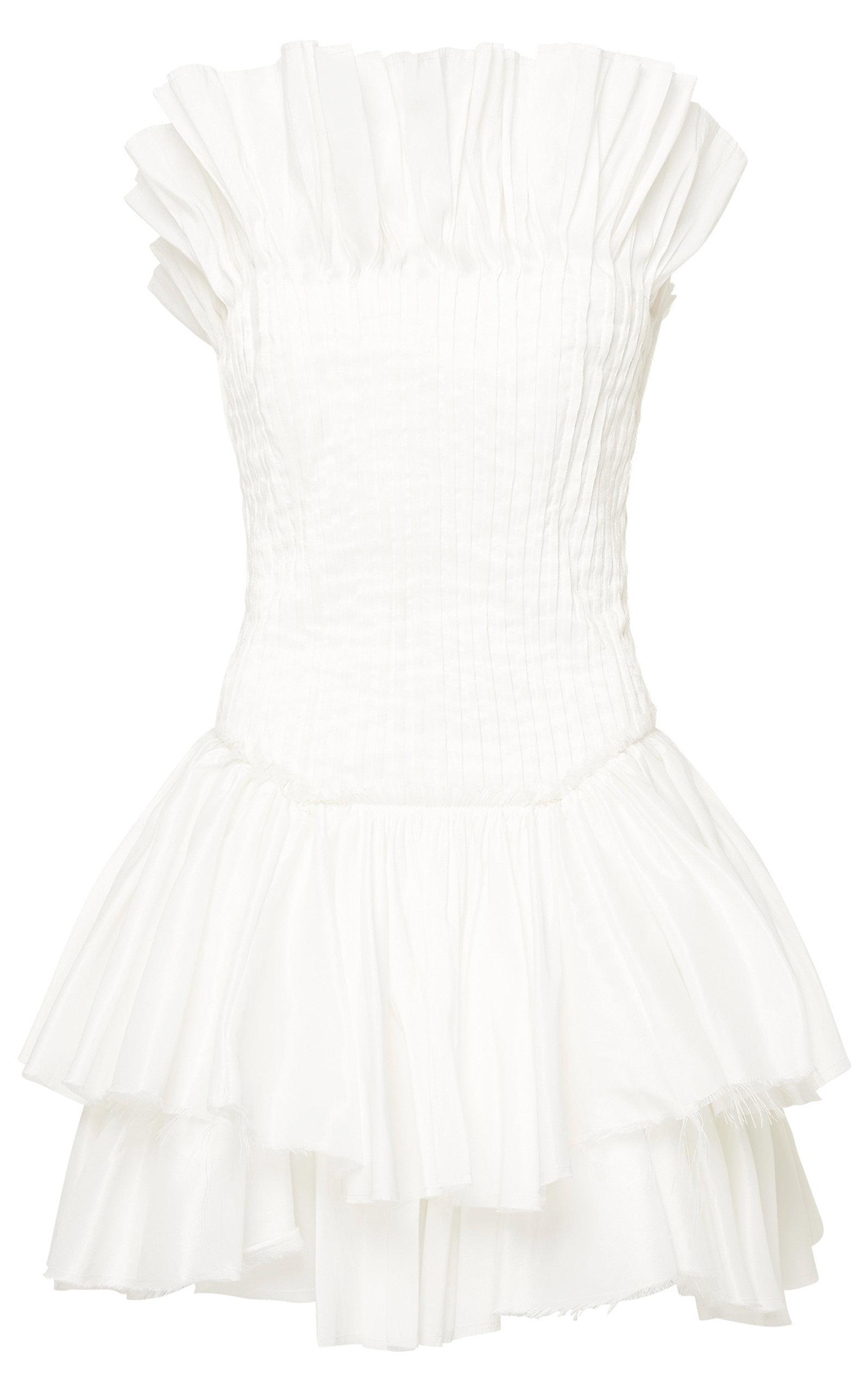 - Women's Utopia Pin-Tucked Linen-Blend Mini Dress