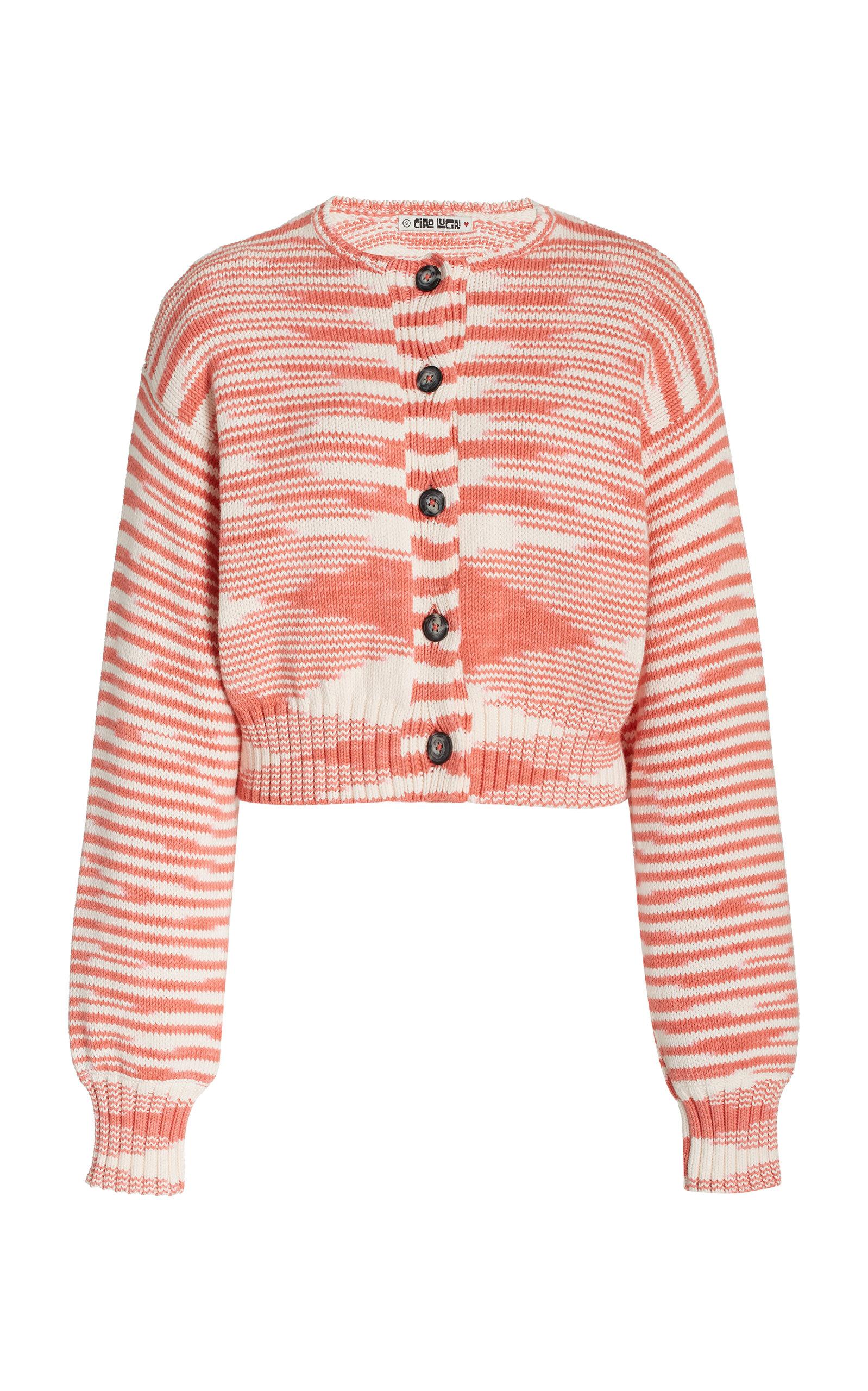 Women's Varese Cotton Jacquard-Knit Cardigan