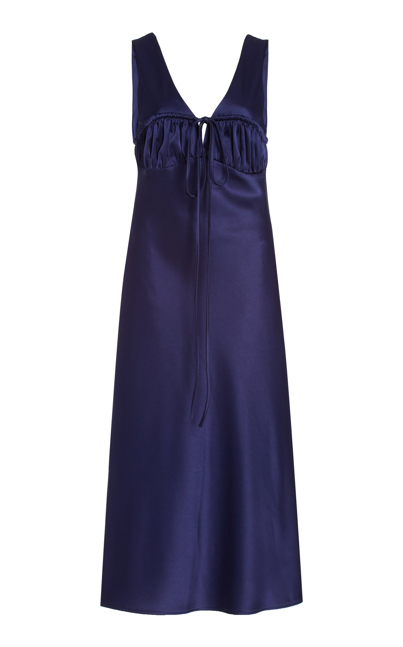 Women's Carolinne Tie-Accented Satin Midi Dress