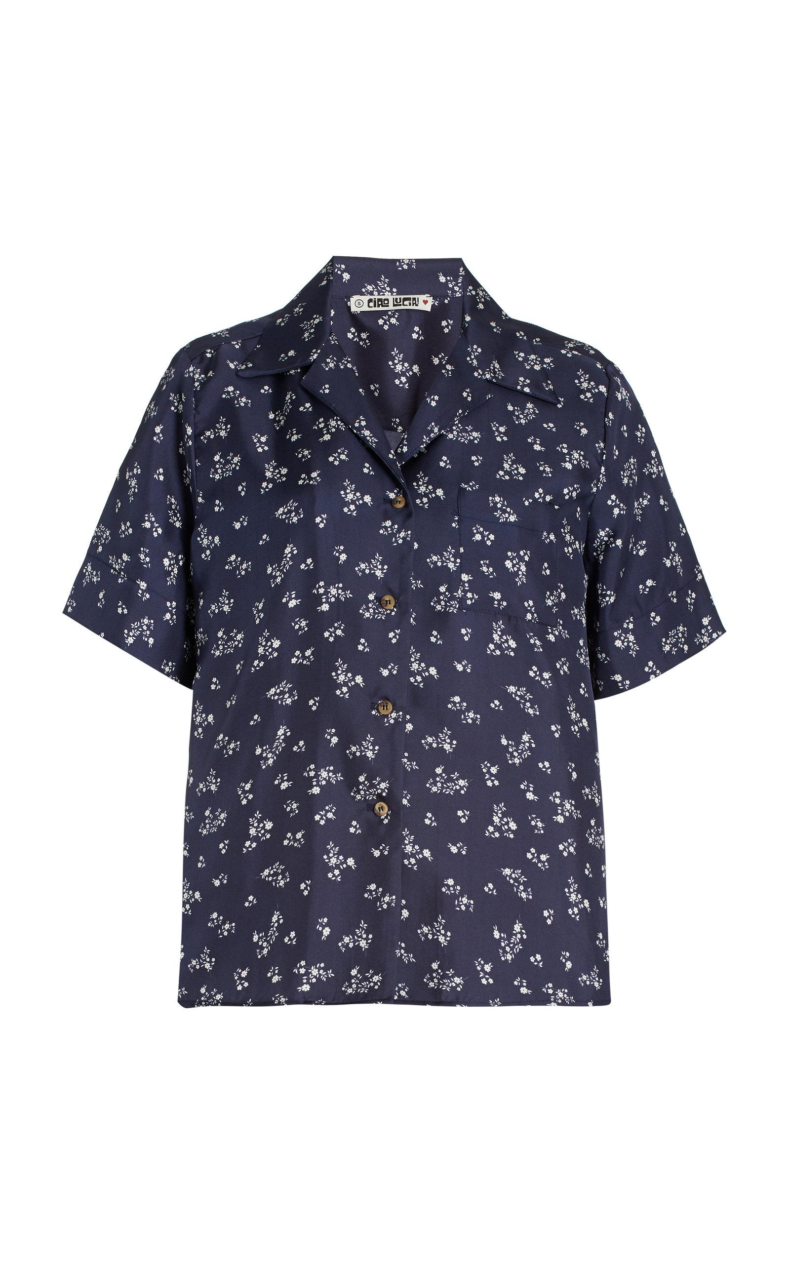 Women's Hester Floral Silk Shirt