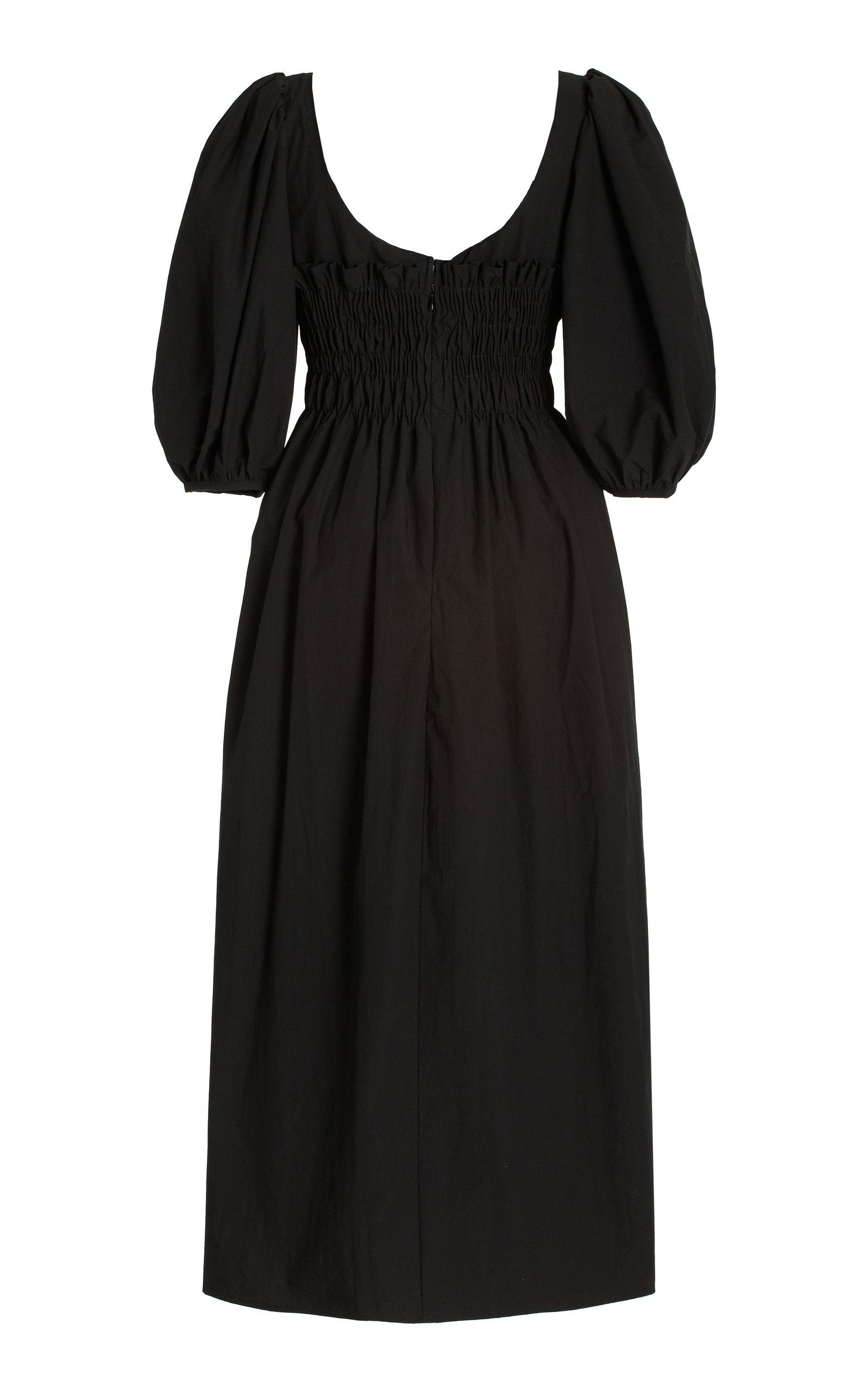 Women's Veneto Smocked Cotton Midi Dress