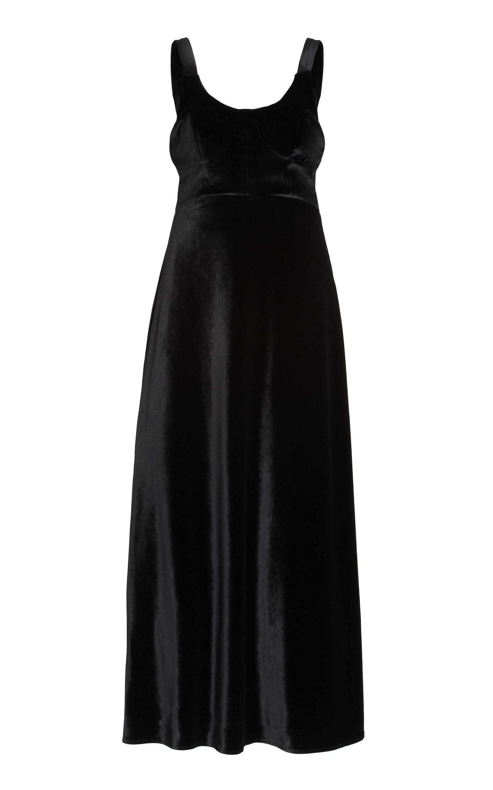 Women's Esme Corseted Velvet Maxi Dress