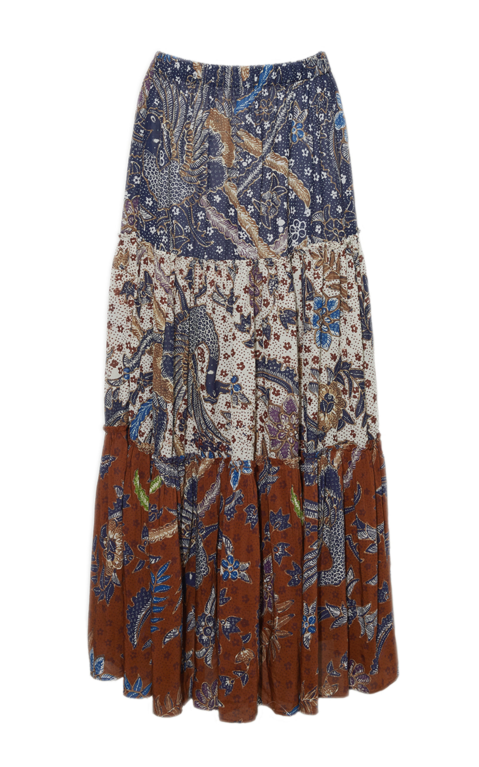 Women's Melanie Tiered Cotton Voile Midi Skirt