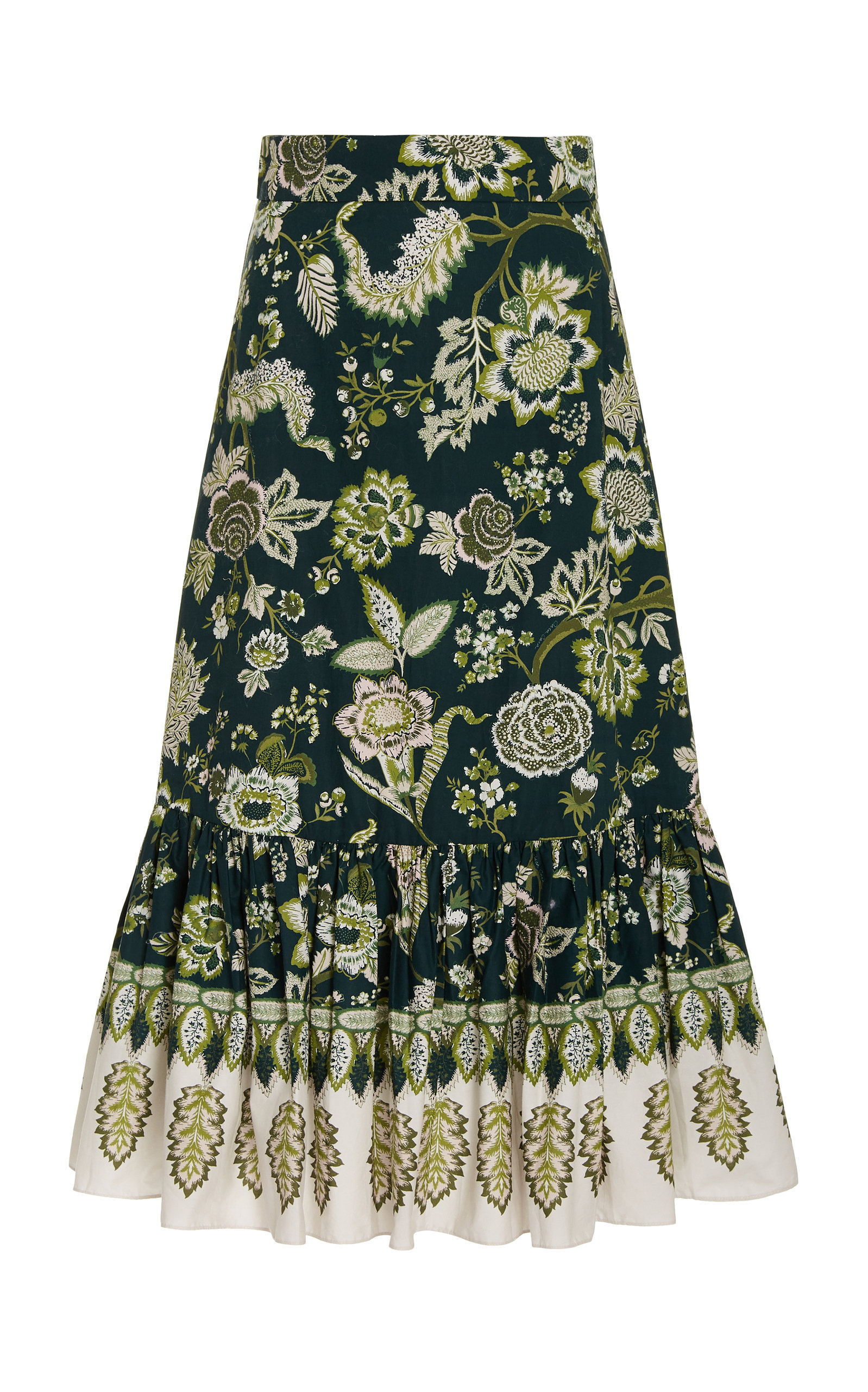 Women's Lynn Printed Cotton Poplin Midi Skirt