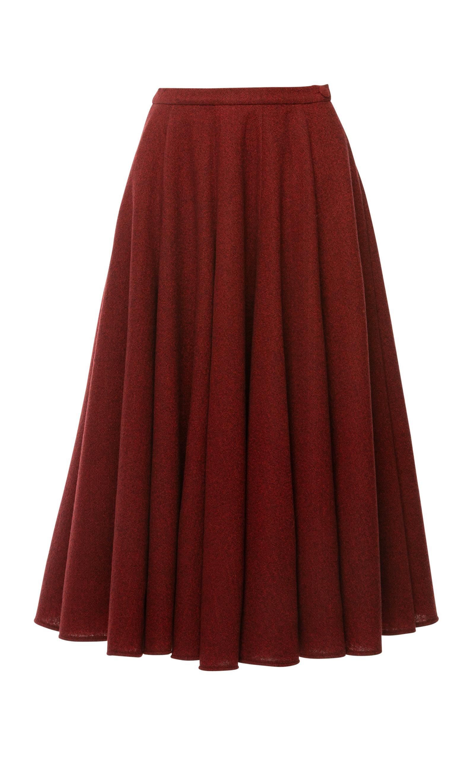 Women's Daydream Woven Plaid Full Midi Skirt