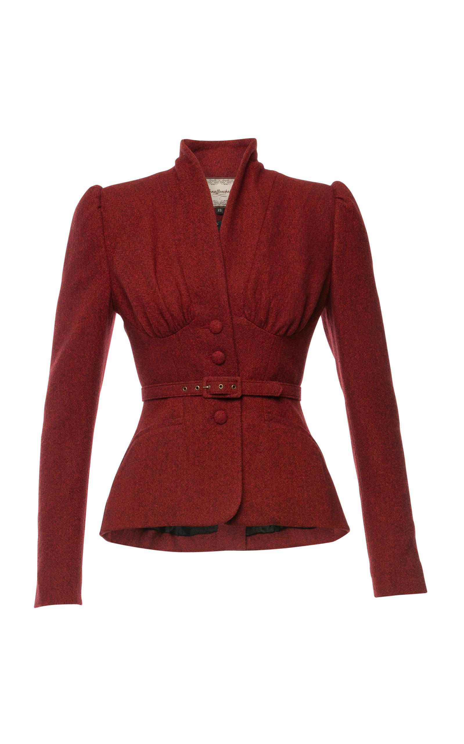 Women's Love Letter Belted Wool Jacket
