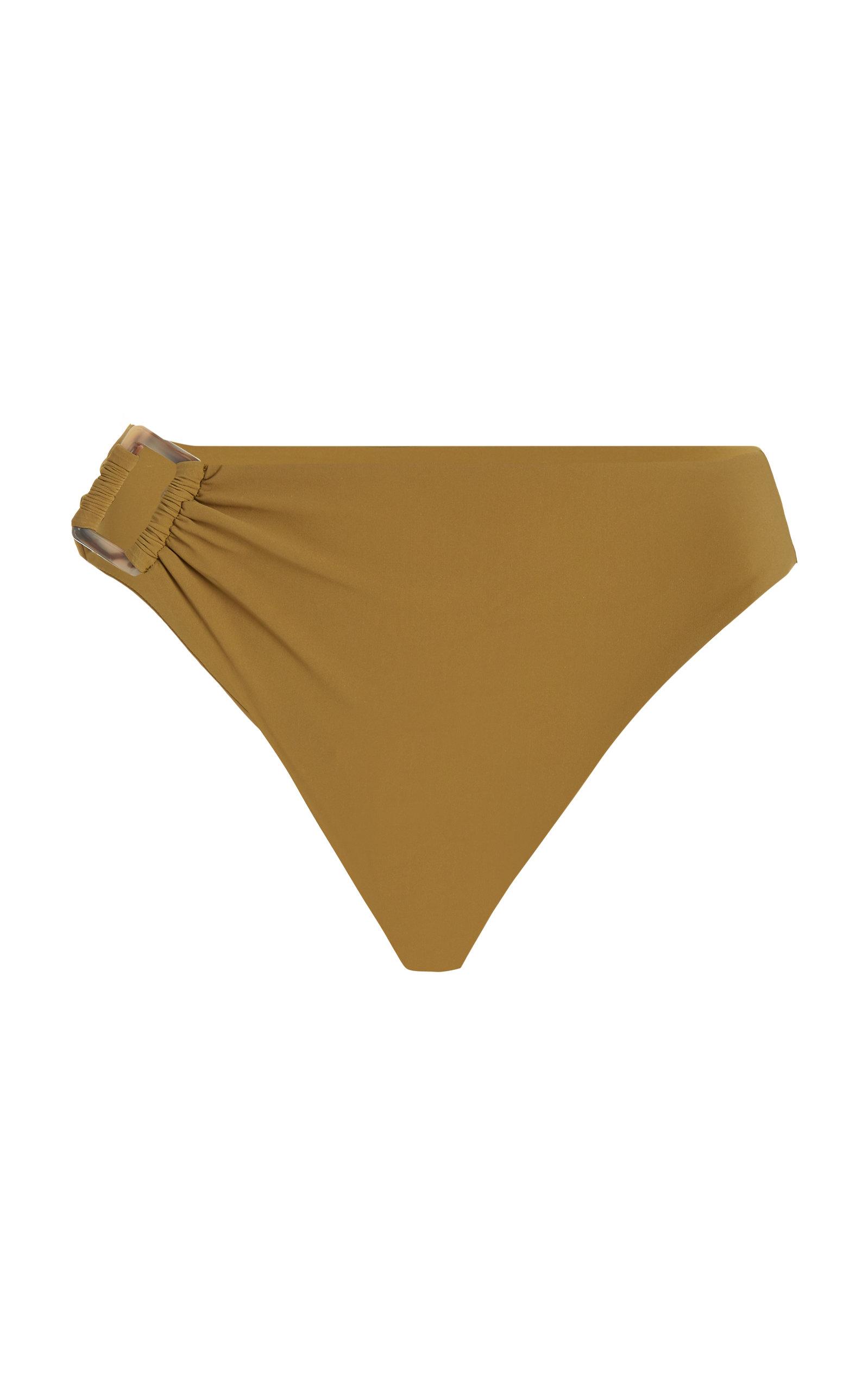 Women's The Asymmetric Tortoise High-Waist Bikini Bottom
