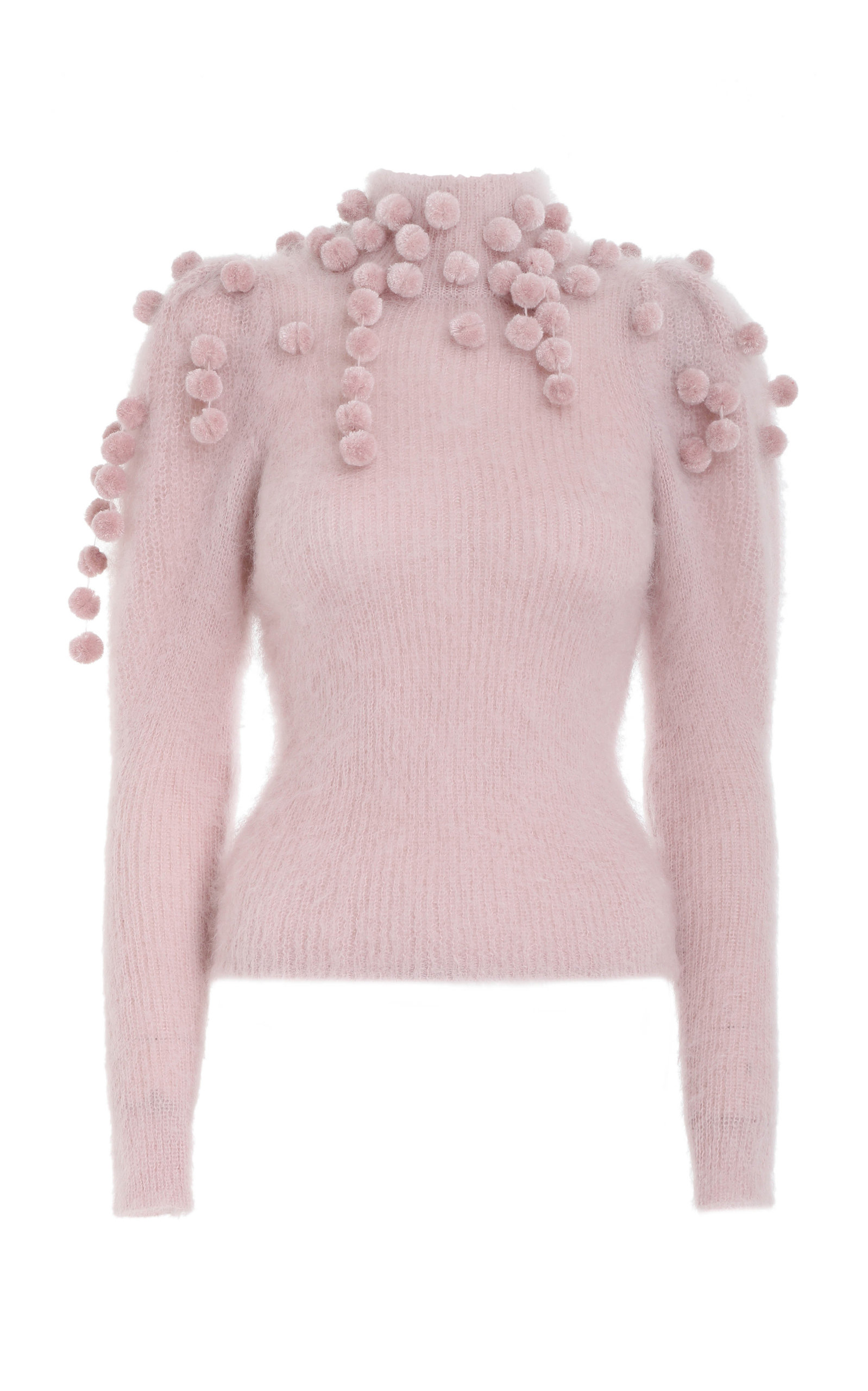Zimmermann - Women's Embellished Mohair-Blend Sweater - Pink - Moda Operandi