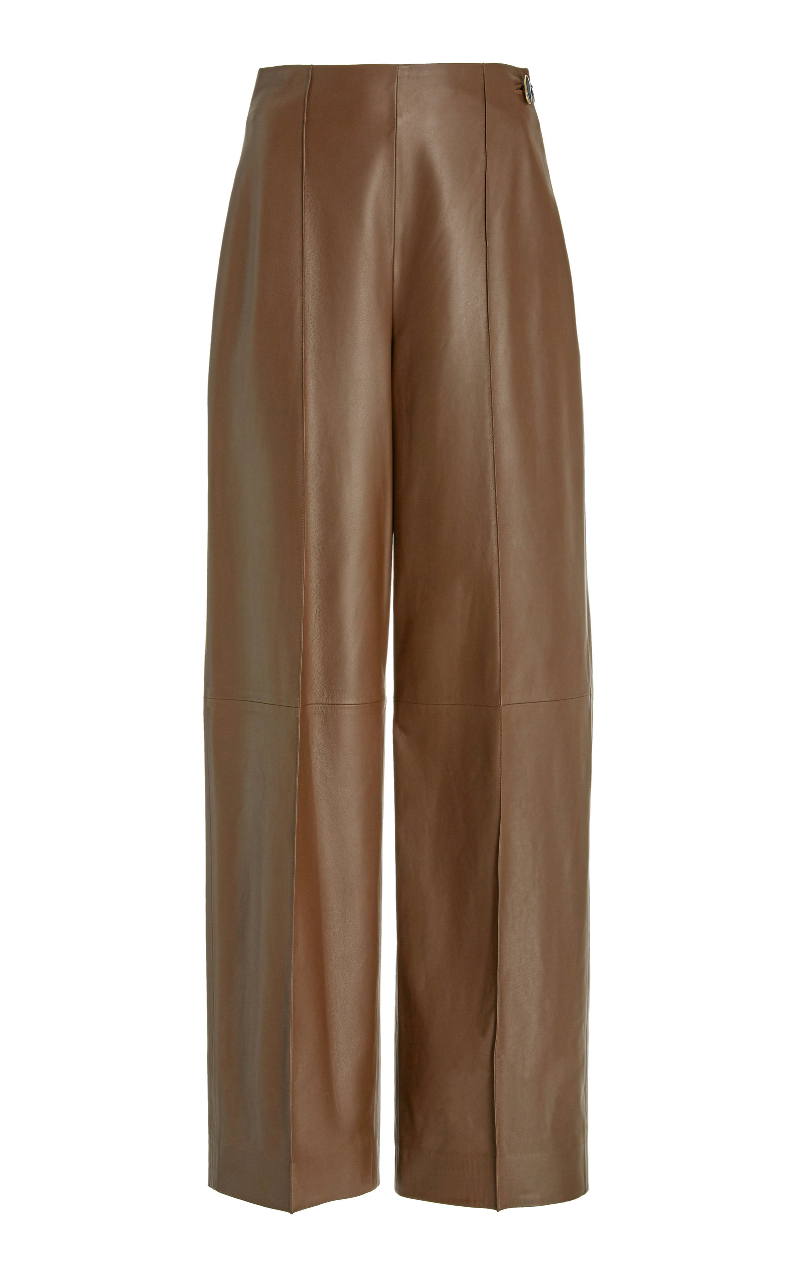 Vince - Women's Pintucked Leather Pants - Green - Moda Operandi