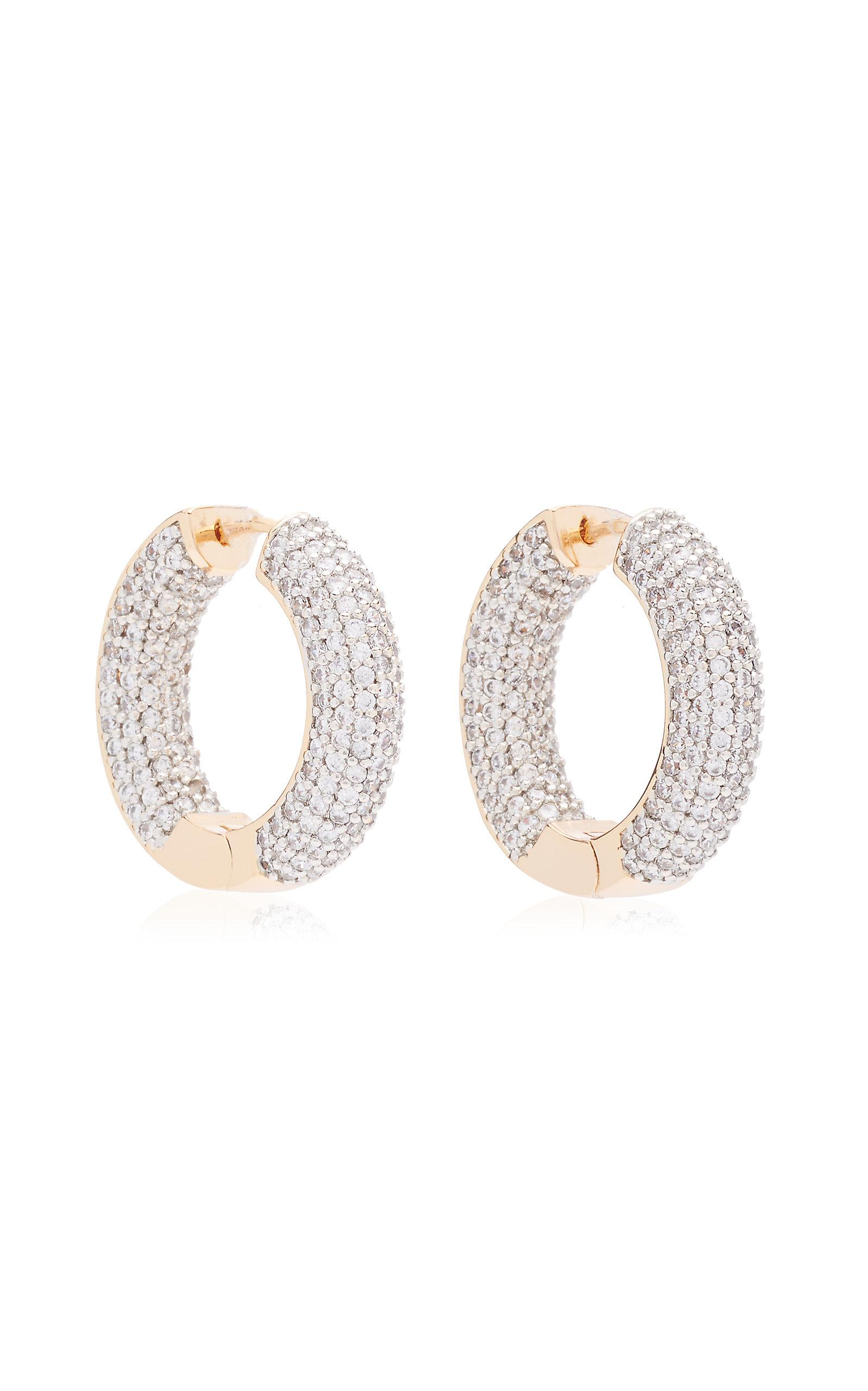Women's Crystal 18K Gold-Plated Hoop Earrings