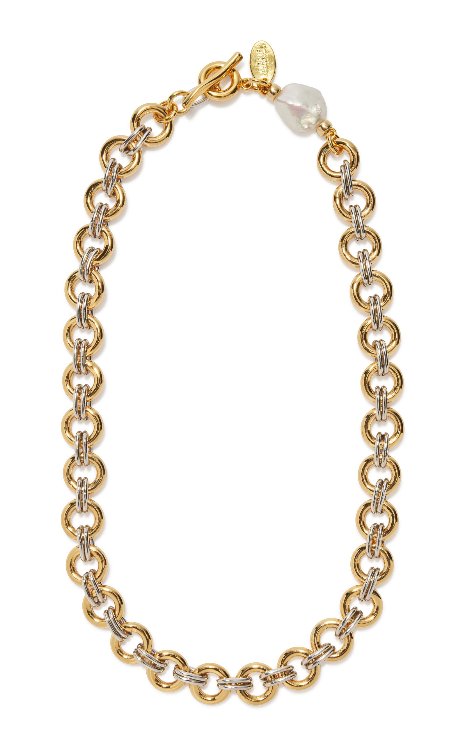 Women's Gold and Silver Plated Duet Chain Necklace