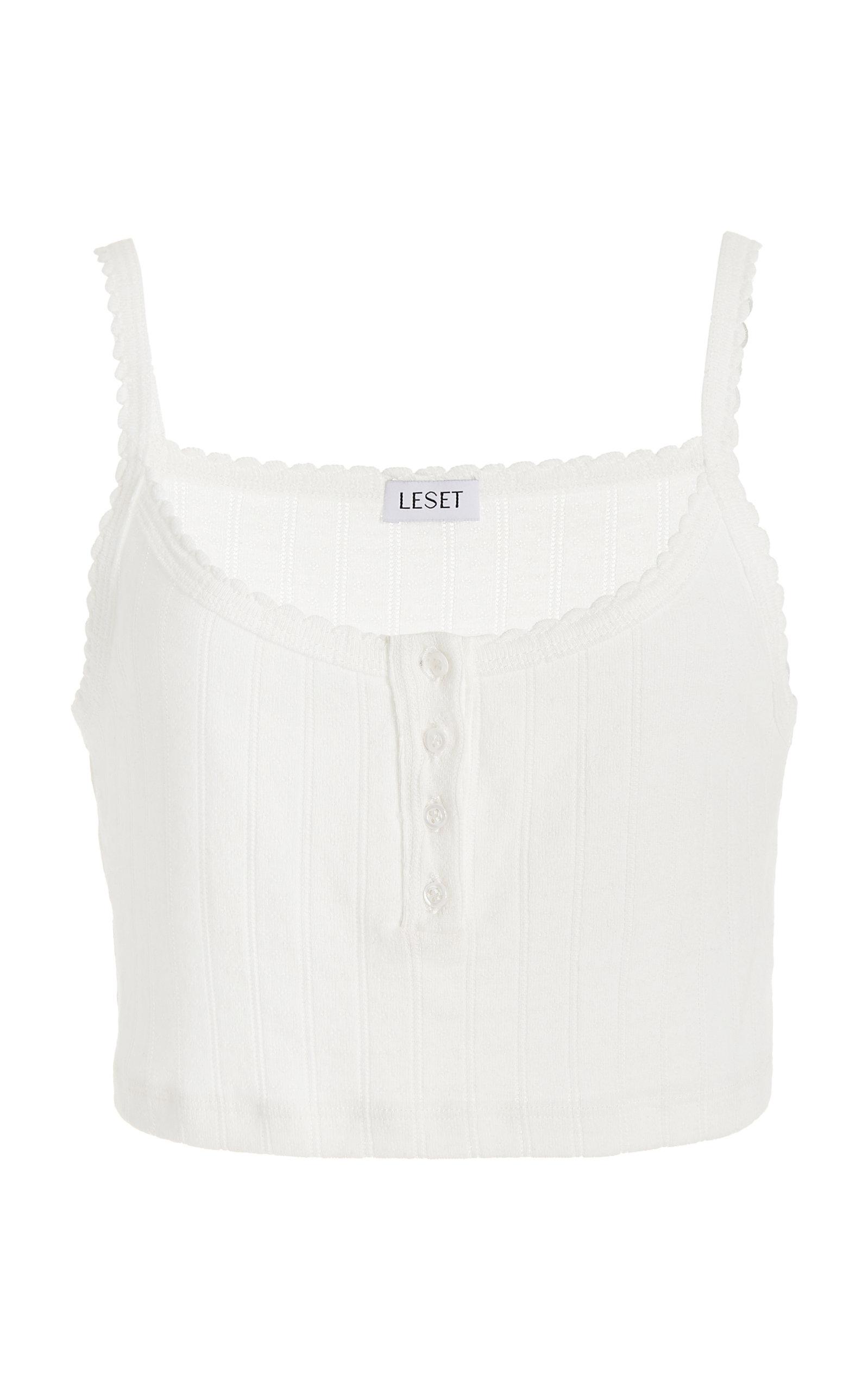 Women's Scoop Neck Cropped Cotton Tank Top