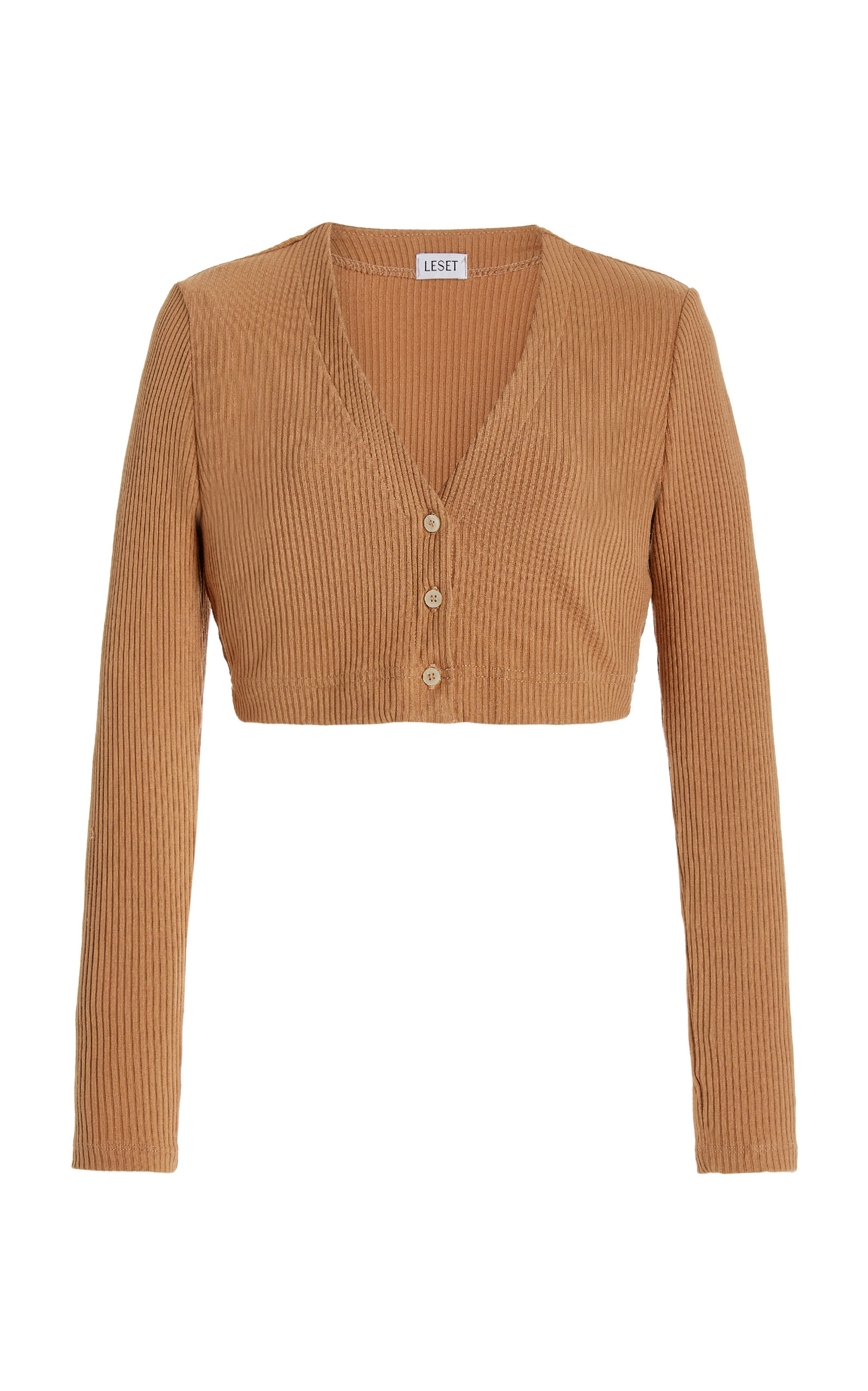 Women's Ali Cropped Ribbed Knit Cardigan