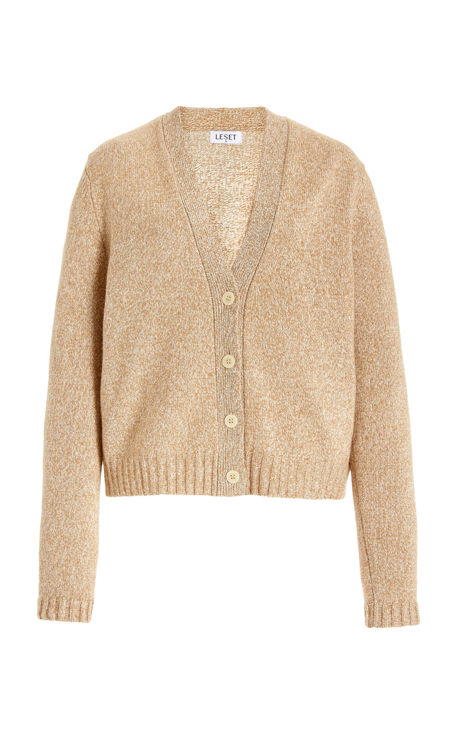 Women's Zoe Classic Wool-Blend V-Neck Cardigan