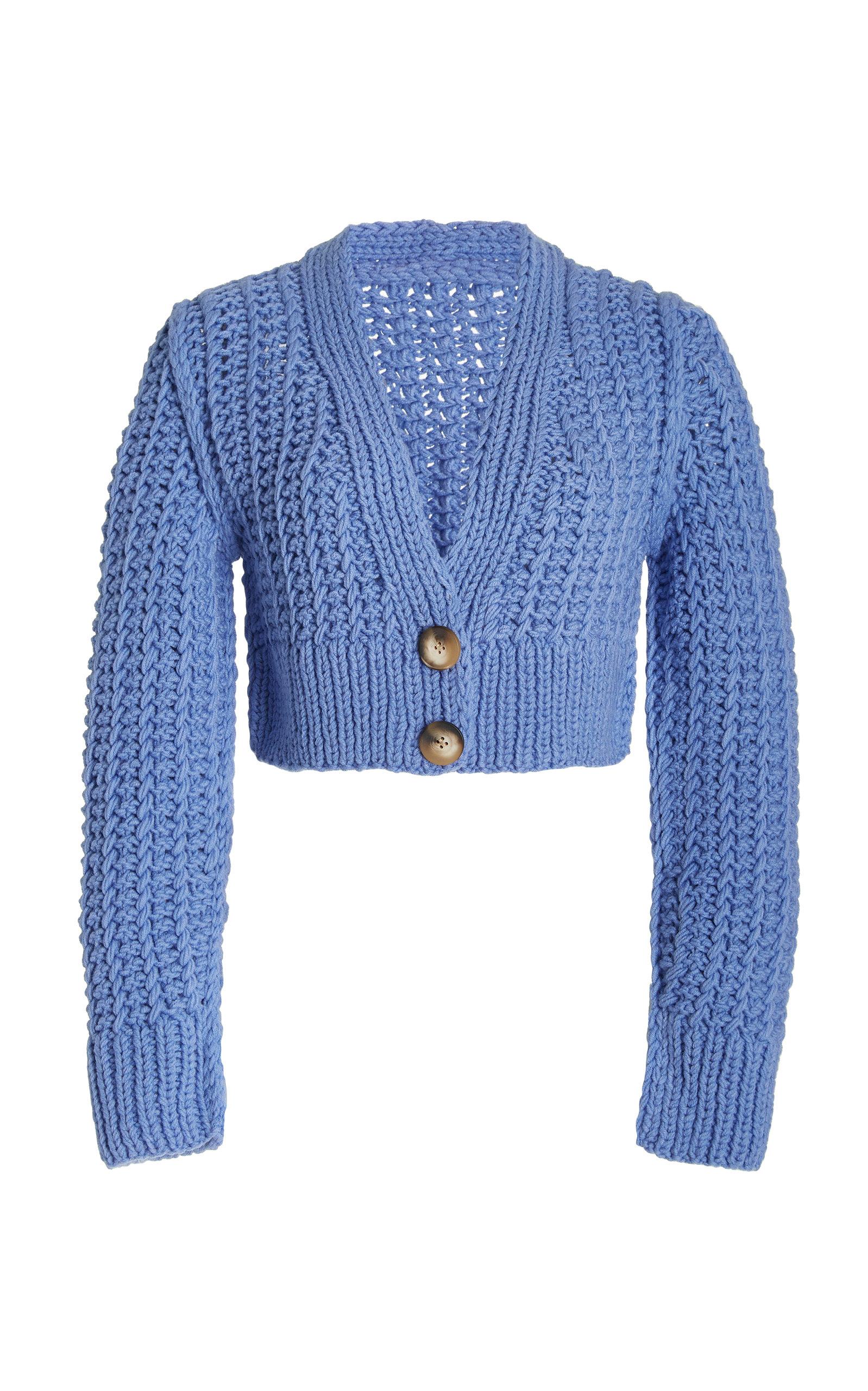 Women's Sabina Crochet-Knit Cropped Cardigan