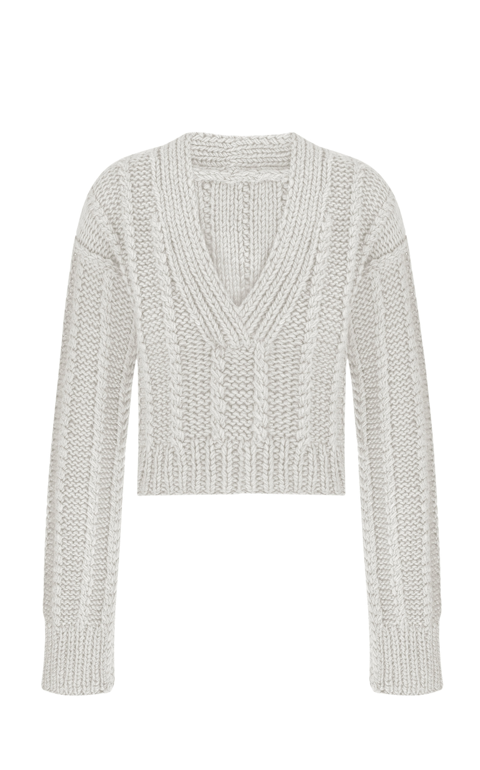 Women's November Cable-Knit Cropped Sweater