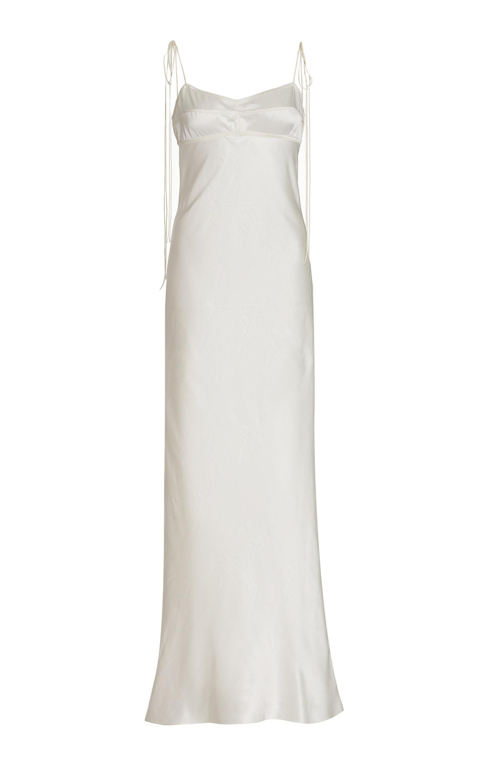 Women's Paris Open-Back Satin Maxi Slip Dress
