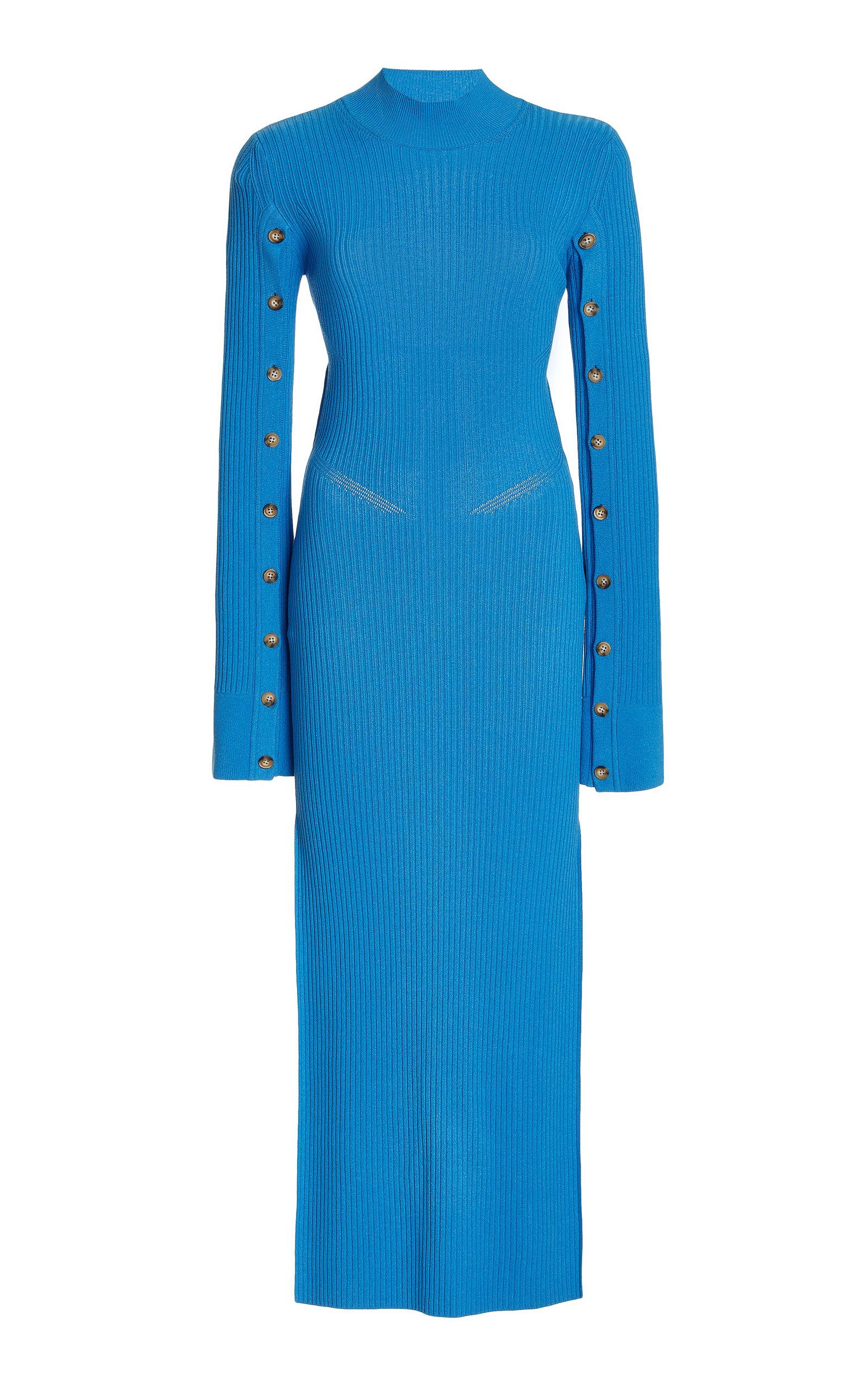 Women's Paris Breakfast Open-Back Ribbed-Knit Maxi Dress