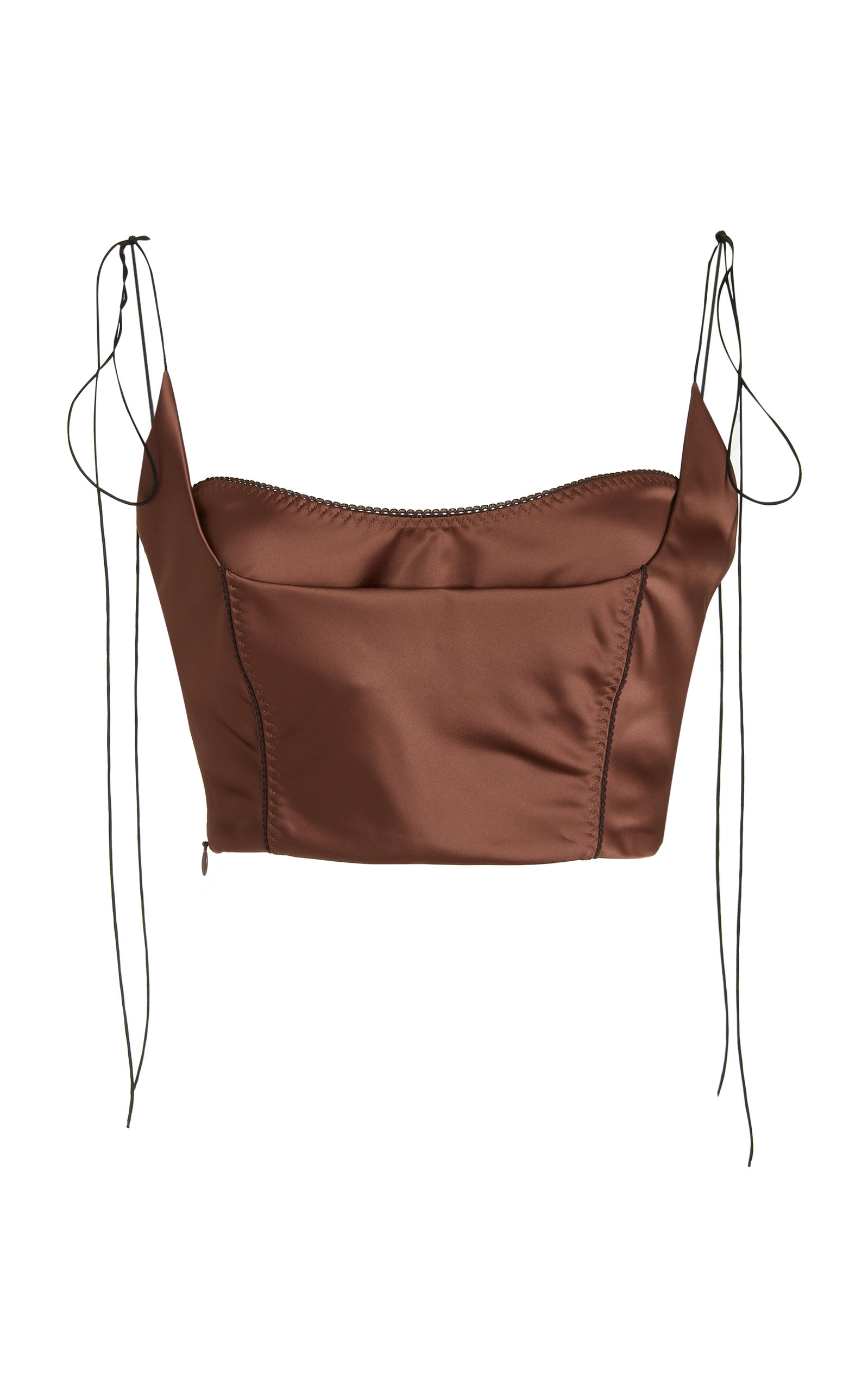 Women's Kyle Layered Satin Bustier Cropped Top
