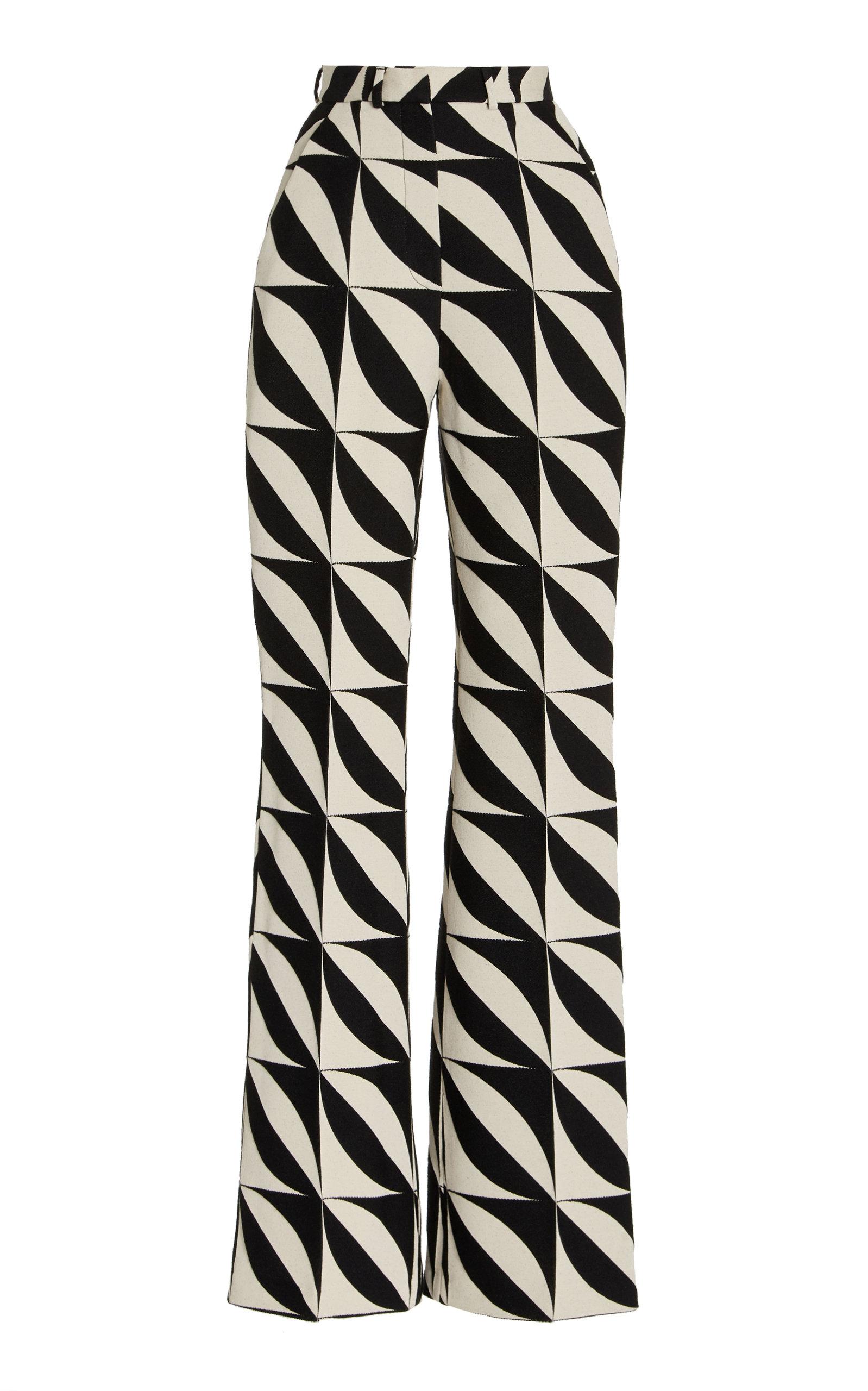 Women's Jacquard Straight-Leg Trousers