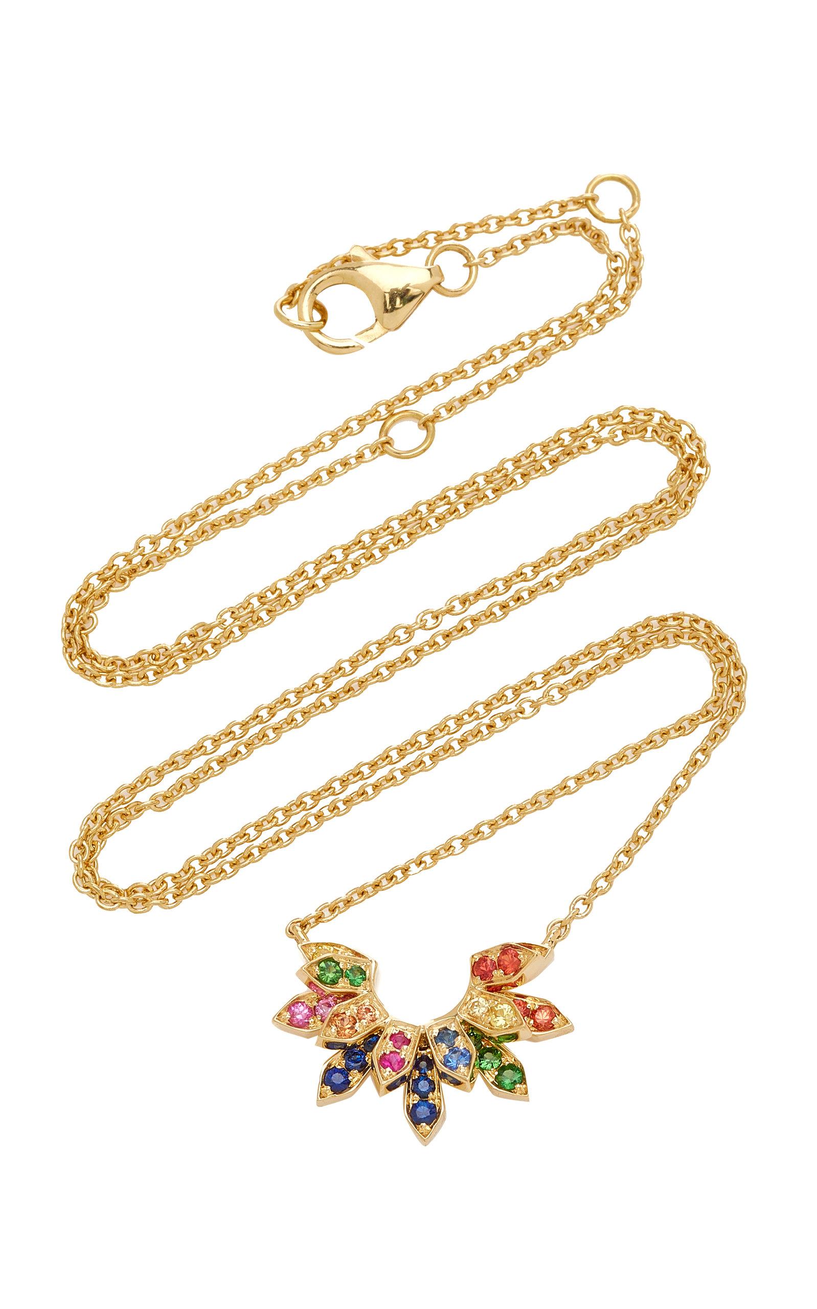 Women's Mini Penacho 18K Yellow Gold Sapphire Necklace