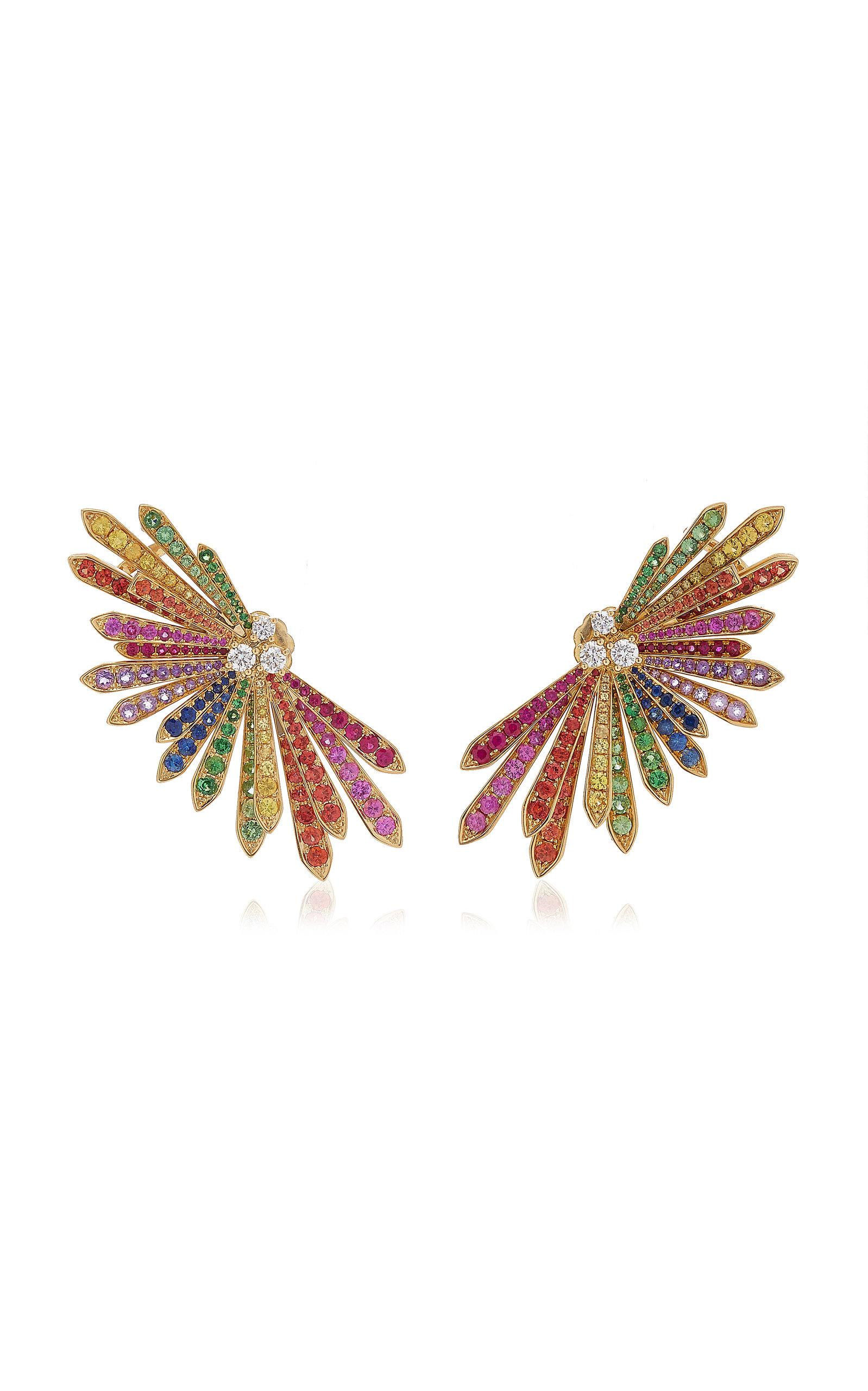 Women's Penacho 18K White Gold Sapphire Single Earring