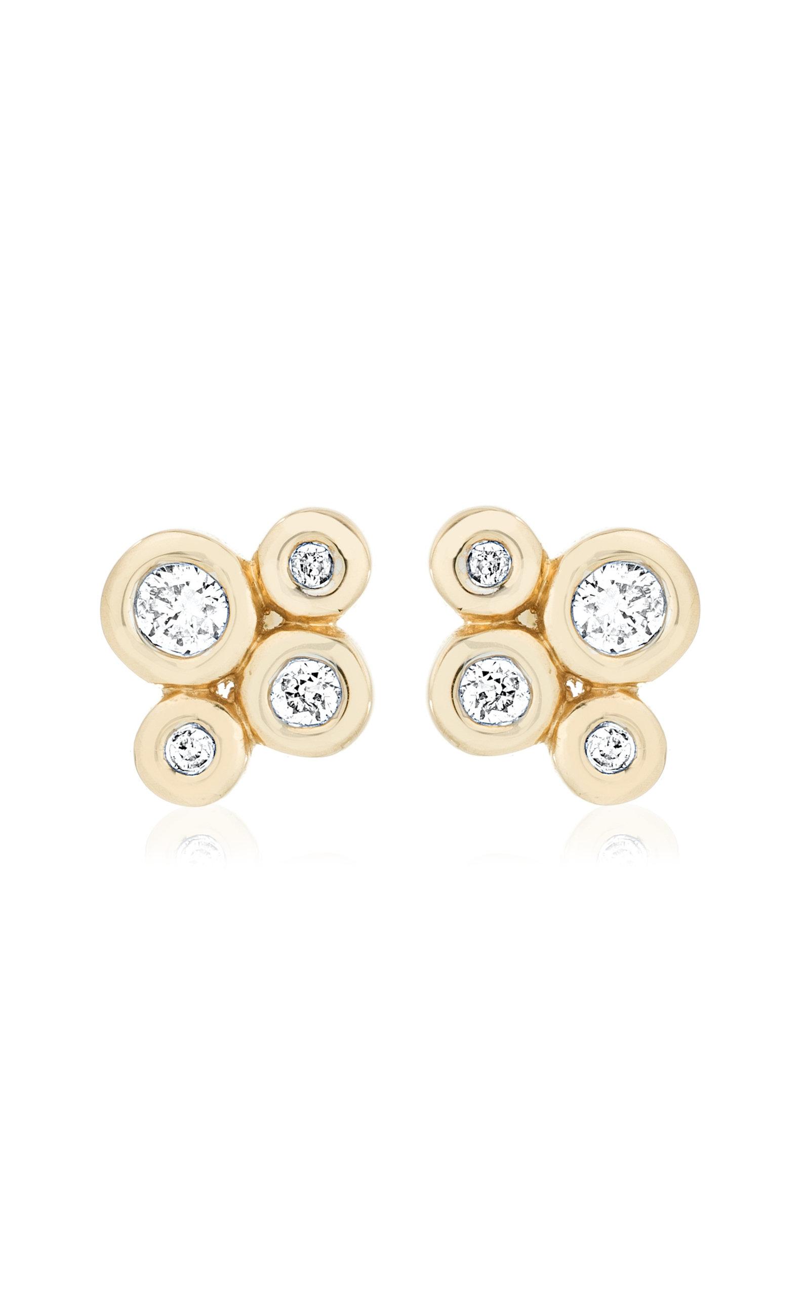 Adina Reyter WOMEN'S BARNACLES 14K GOLD DIAMOND STUD EARRINGS