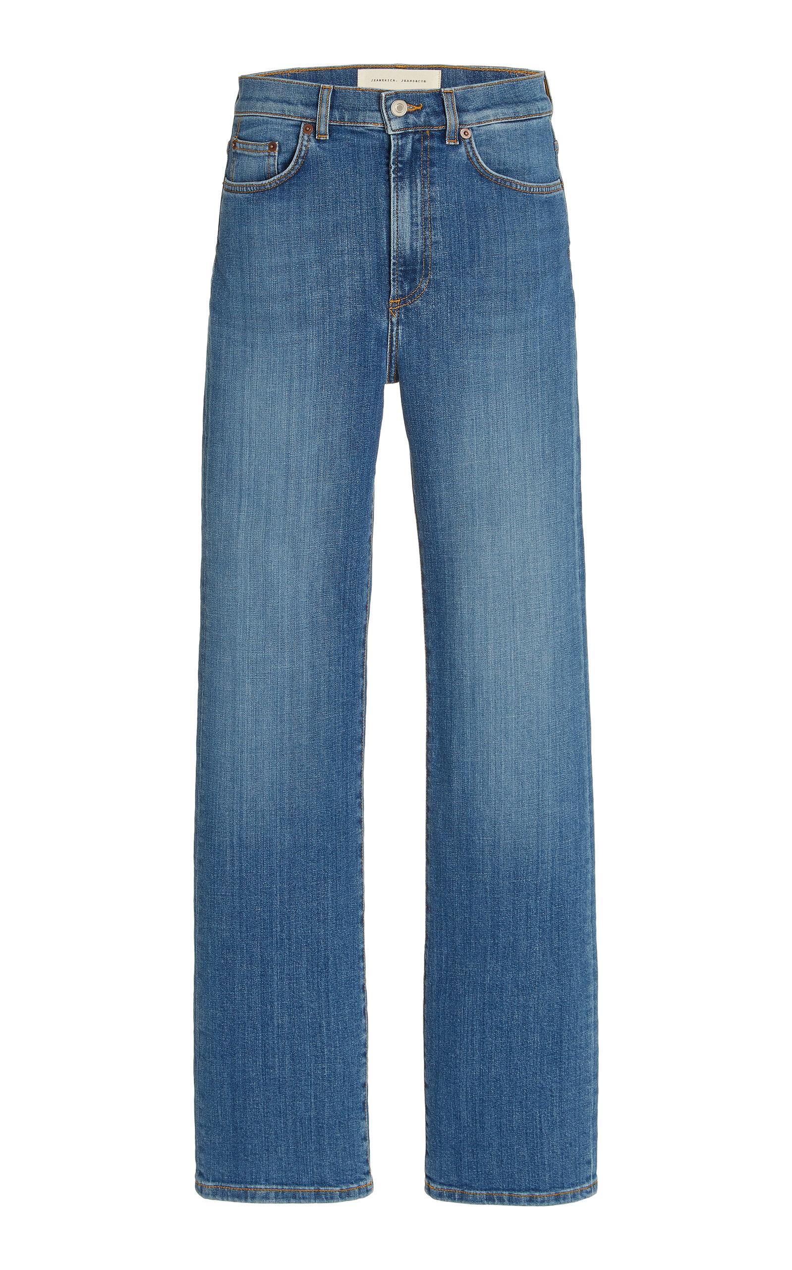 Women's Eiffel Stretch High-Rise Organic Cotton Straight-Leg Jeans