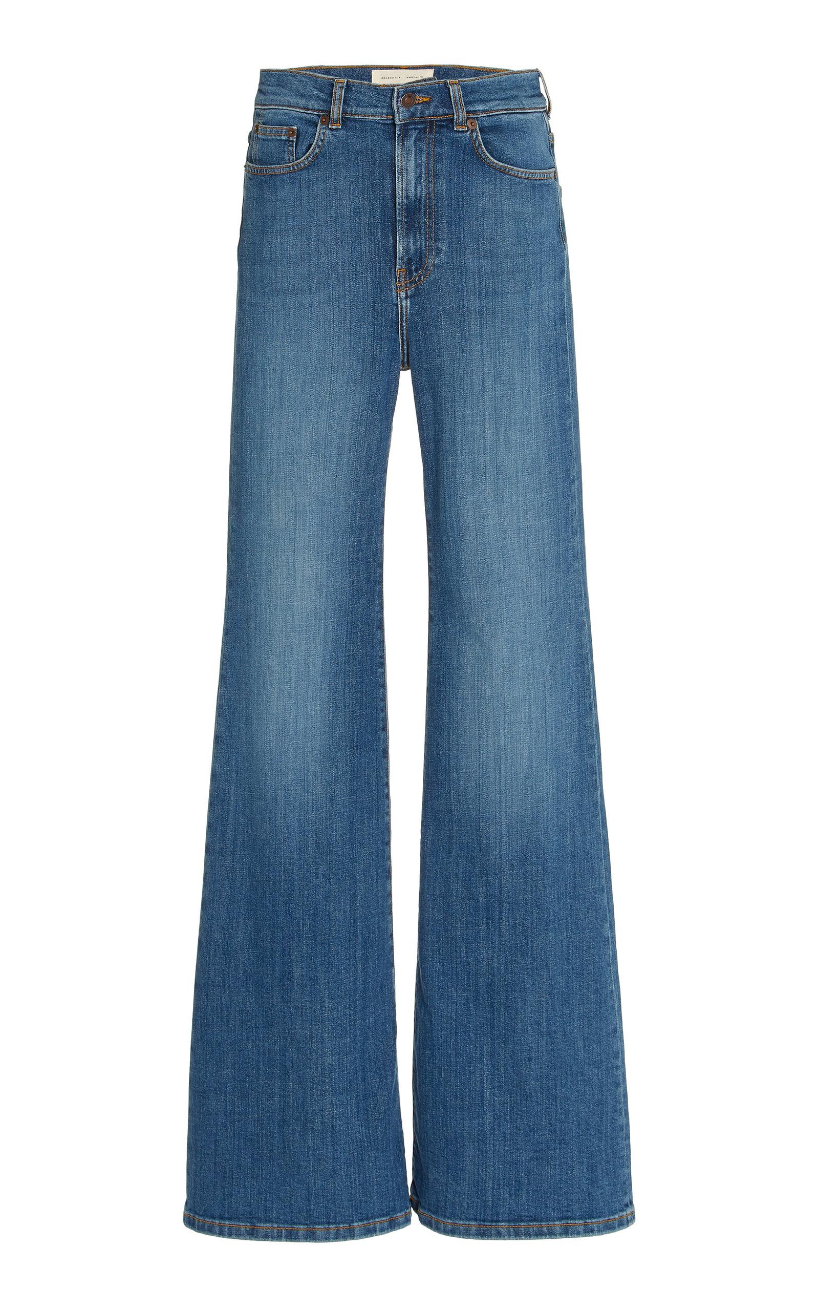 Women's Fuji Stretch High-Rise Organic Cotton Flared-Leg Jeans