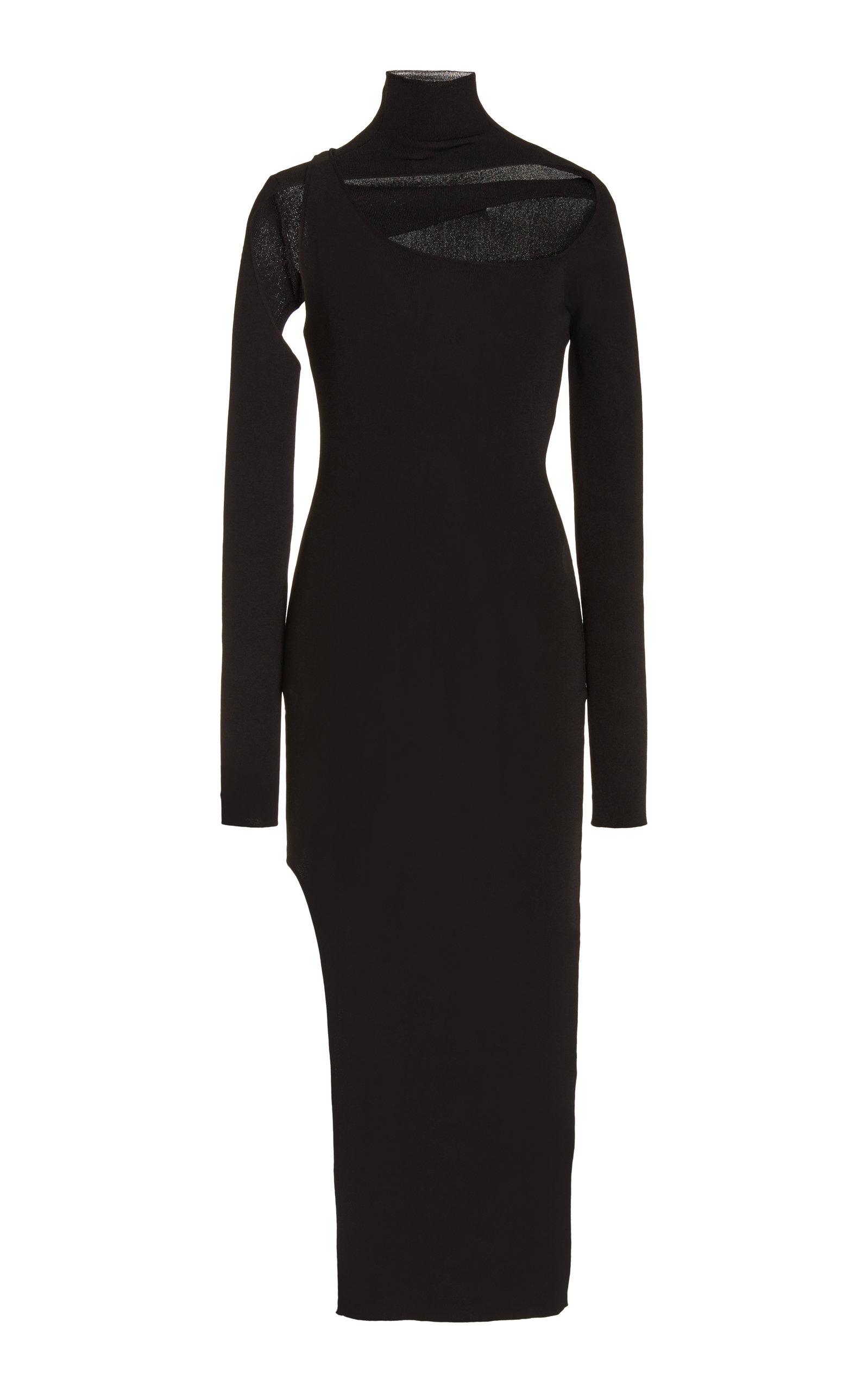 Women's Minerva Cutout Ribbed-Knit Midi Dress