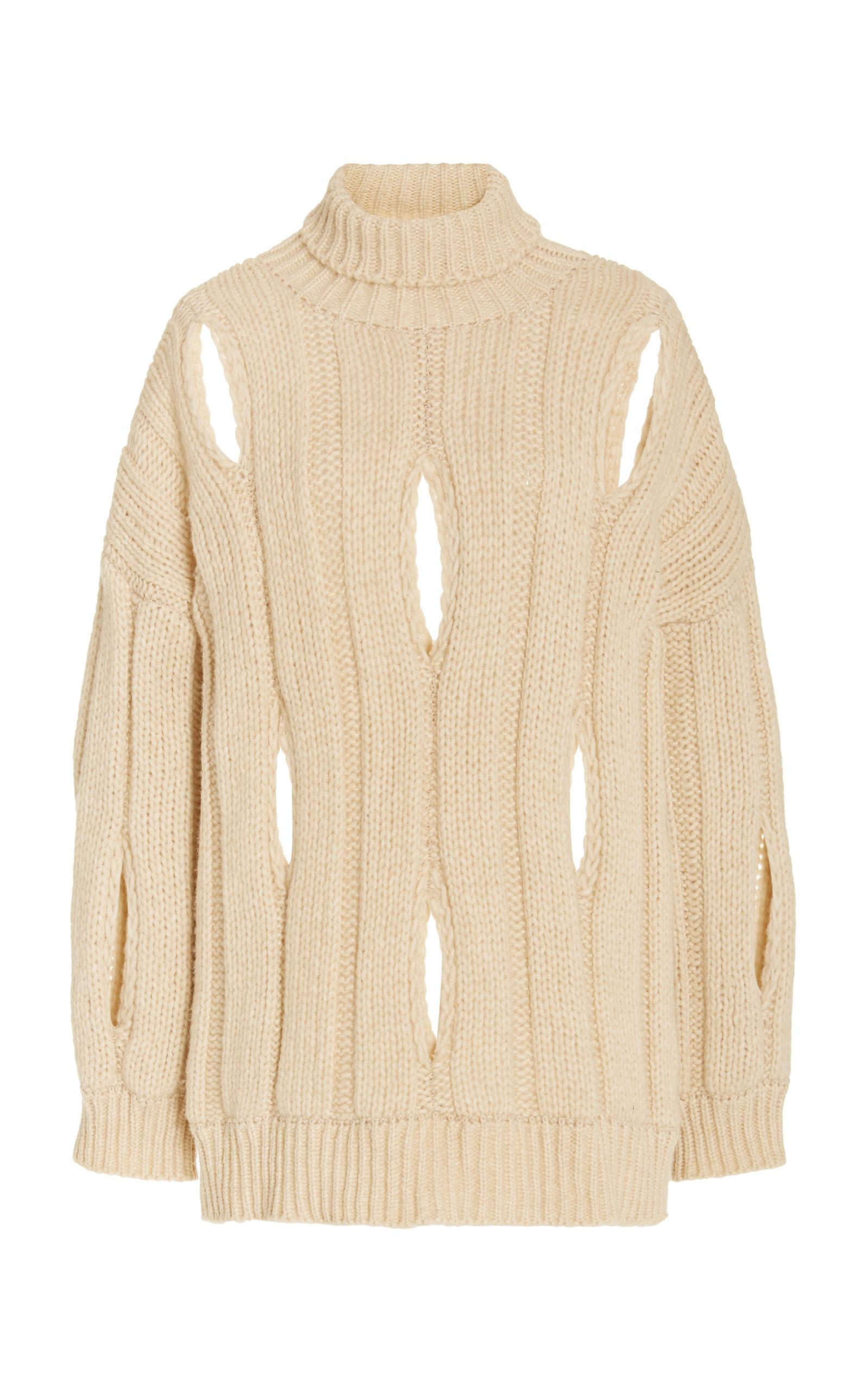 Women's Cocoon Cutout Knit Sweater
