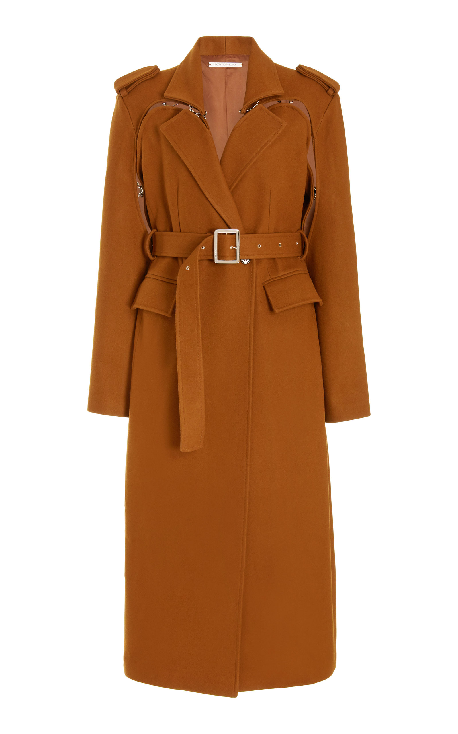 Women's Excelsior Hook-Detailed Cutout Wool-Blend Coat