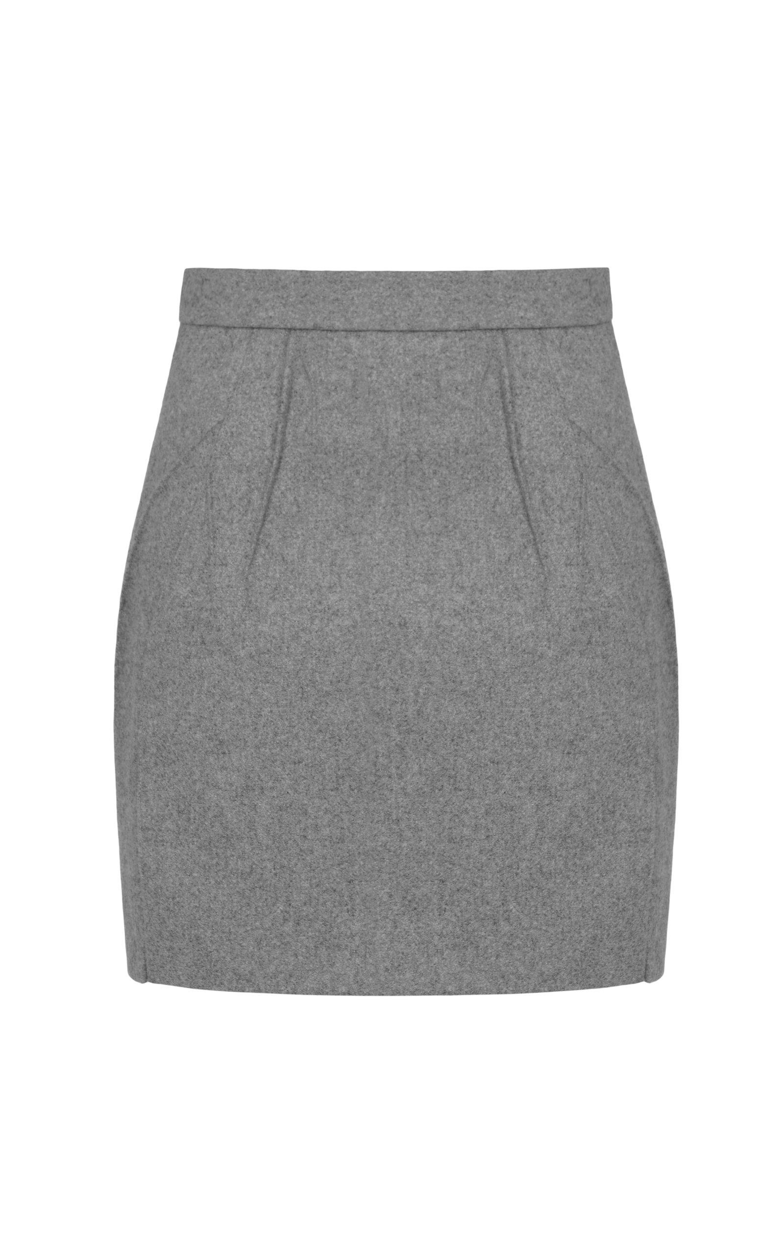Women's Wool-Blend Mini Skirt