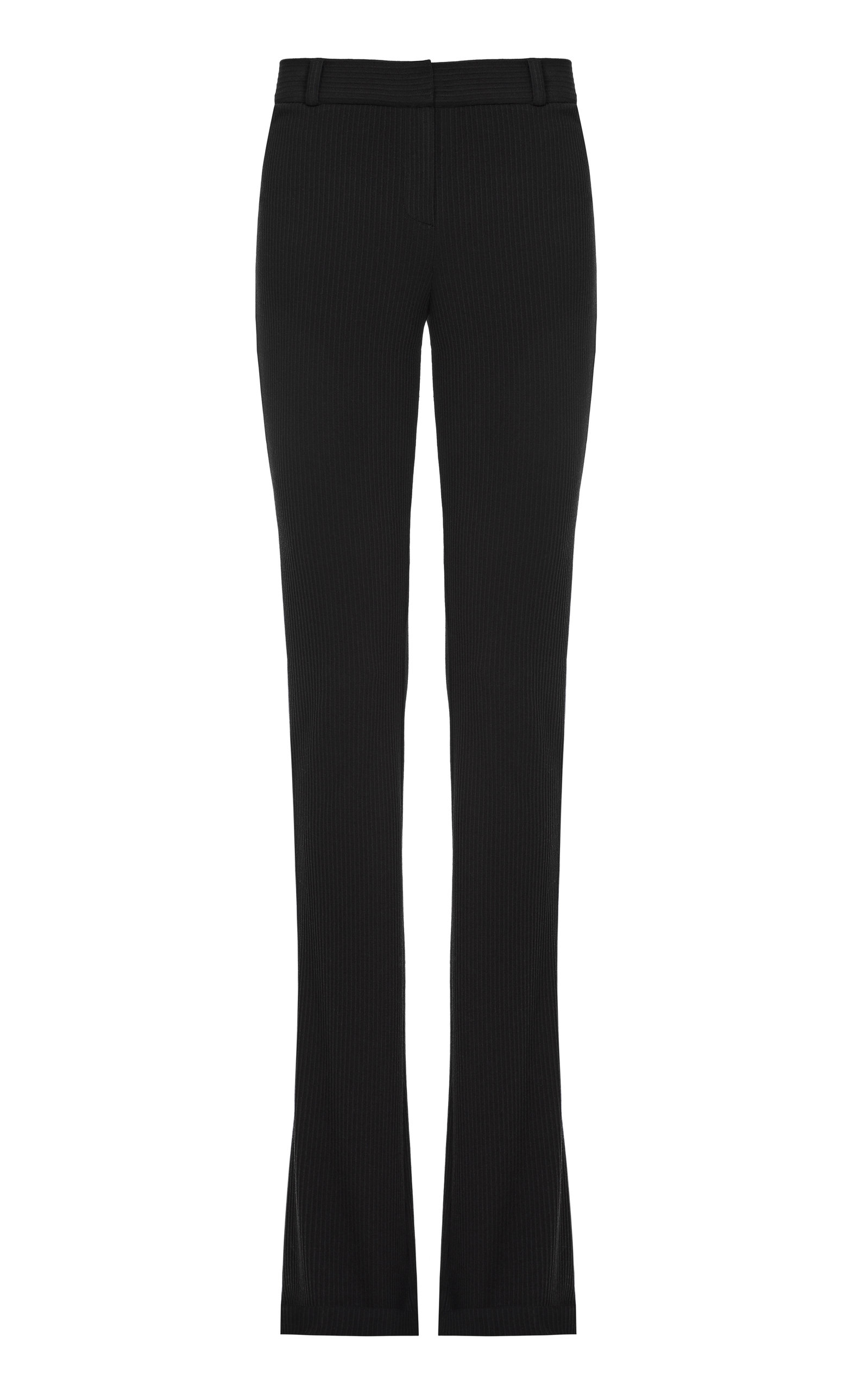 Women's Stretchy Bouclé Straight-Leg Pants
