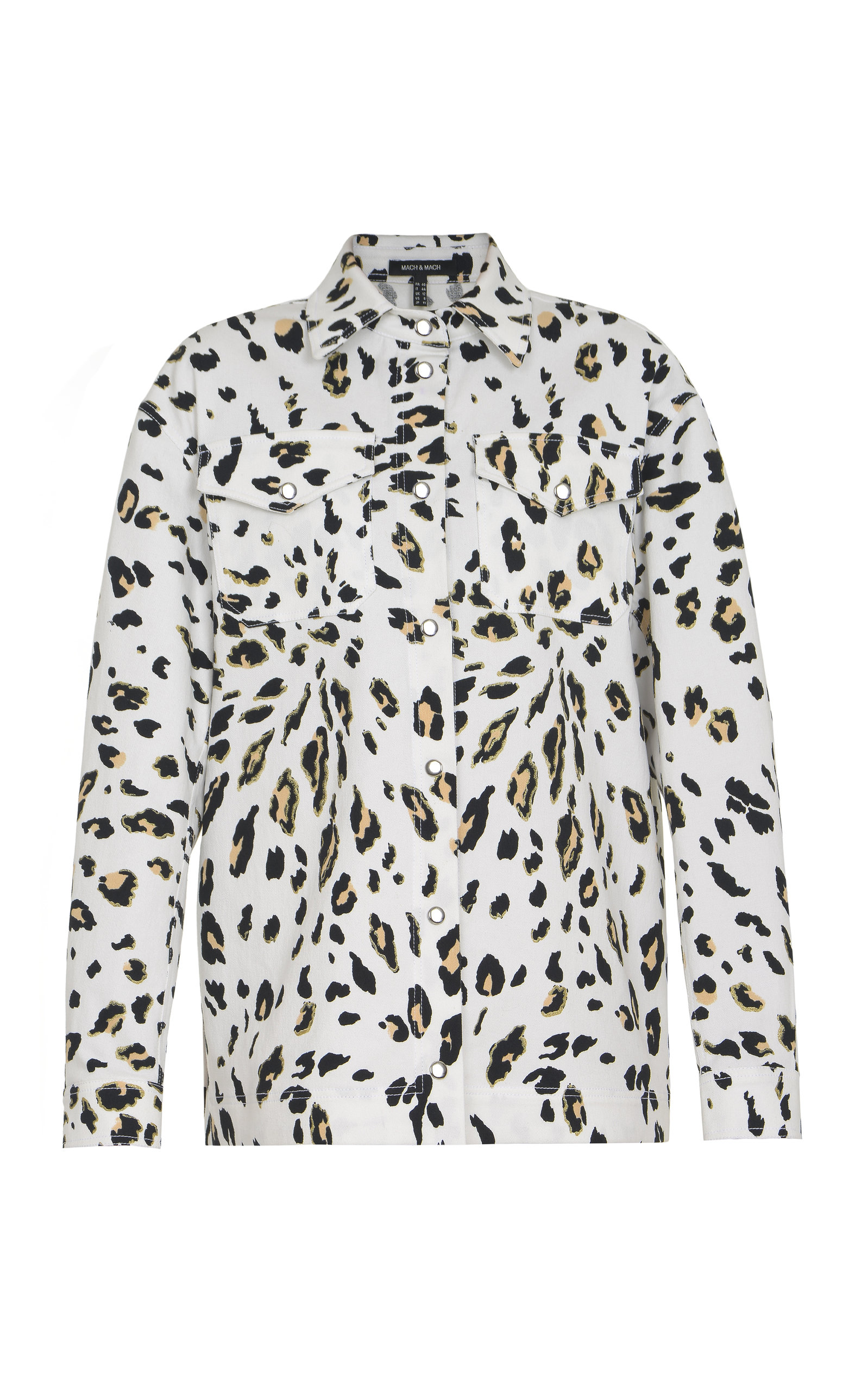 Women's Leopard Printed Cotton-Blend Jacket