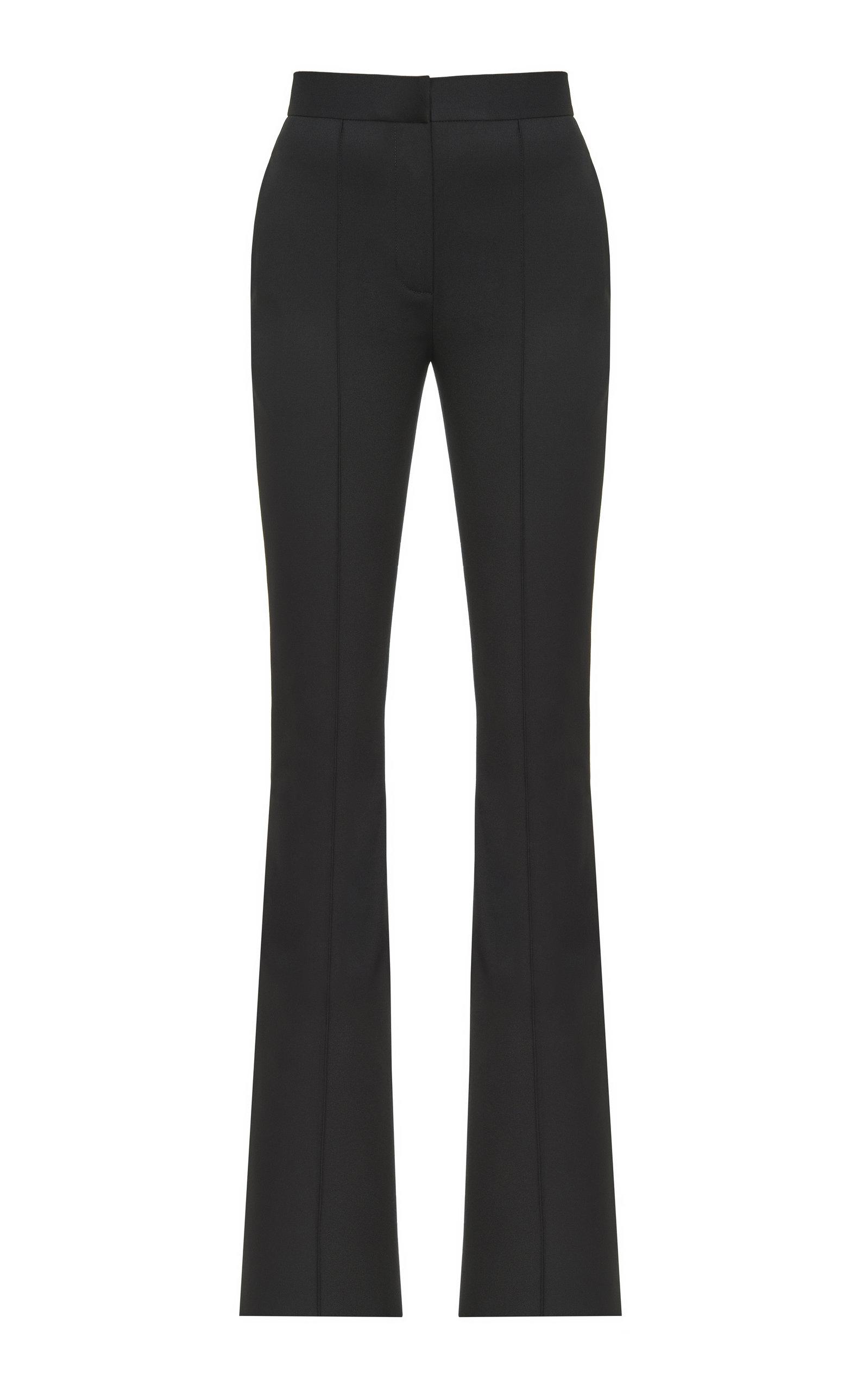 Women's Slit-Detailed Crepe Straight-Leg Pants