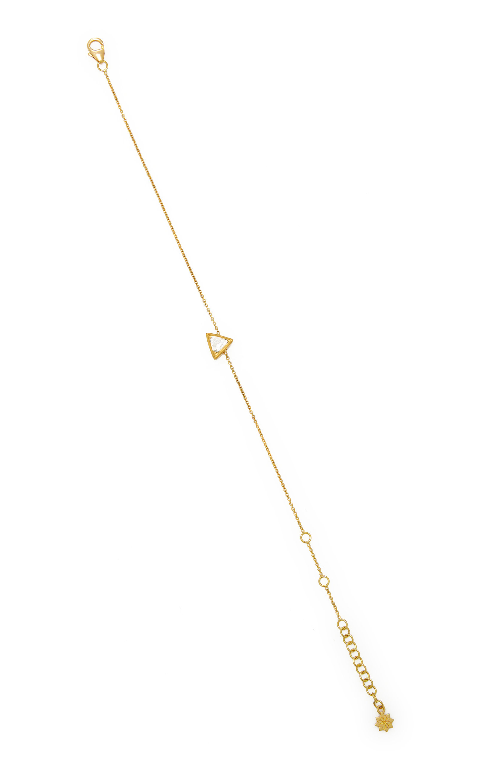 Women's Kundan 18k Yellow Gold Diamond Bracelet