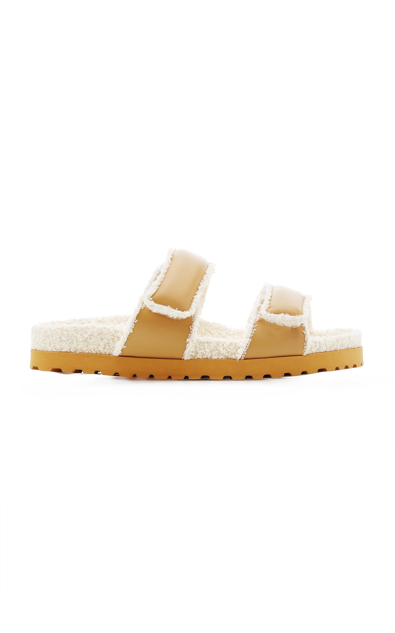 Women's Leather Slide Sandals